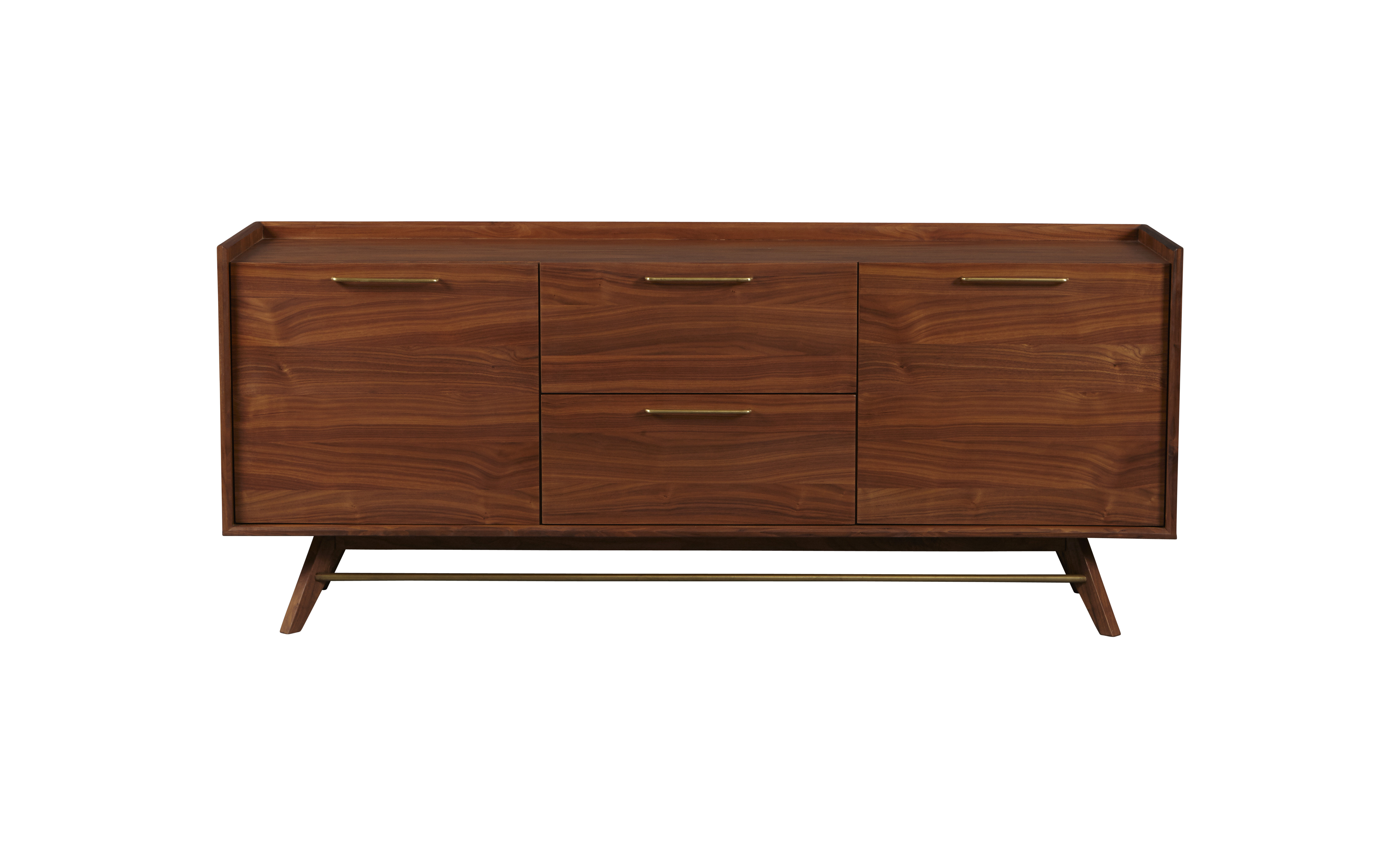Adam 3 Section Sideboard Pertaining To Keiko Modern Bookmatch Sideboards (View 9 of 30)