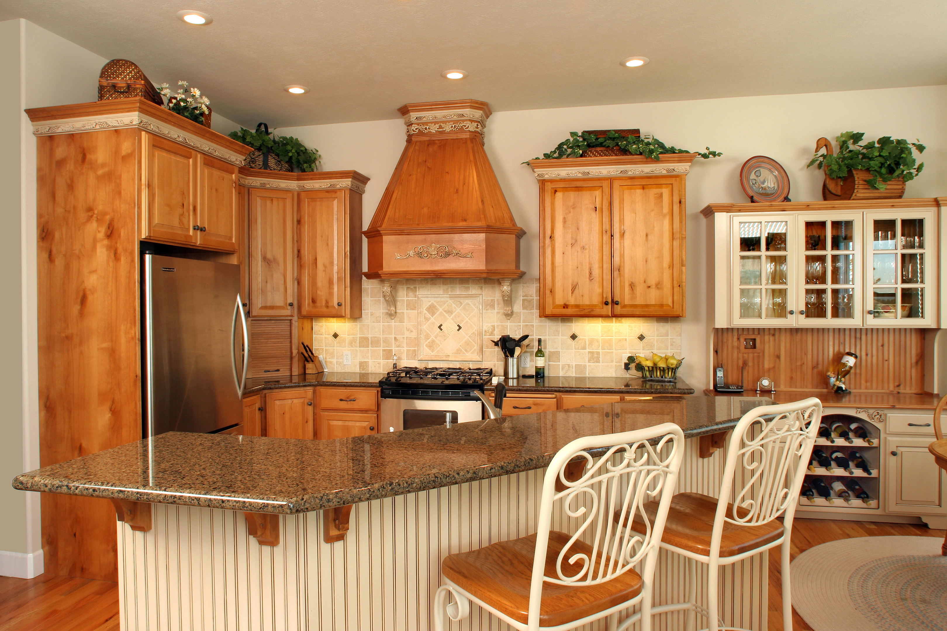 Affordable Custom Cabinets – Showroom For Medium Buffets With Wood Top (View 12 of 30)