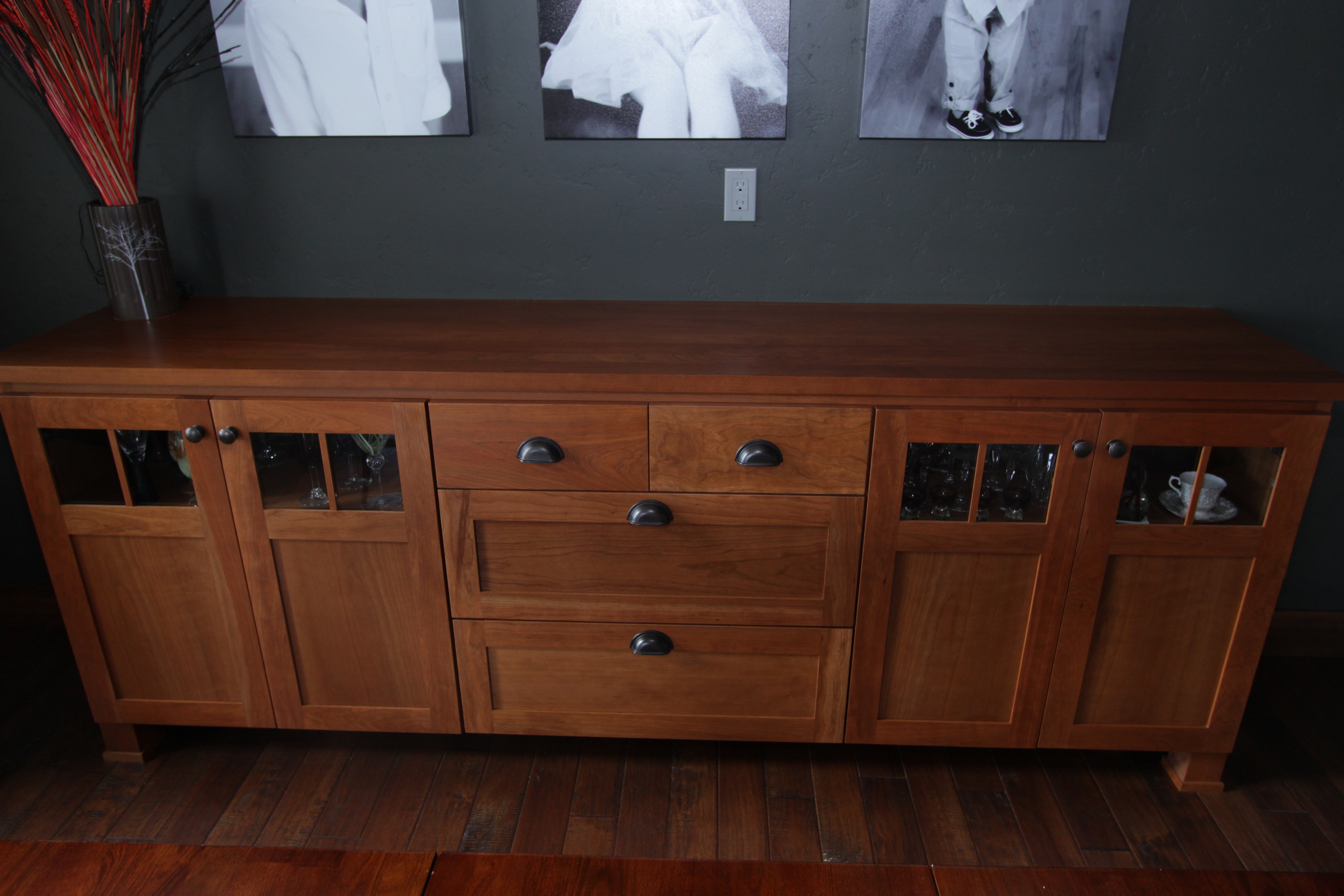 Affordable Custom Cabinets – Showroom For Medium Buffets With Wood Top (View 3 of 30)