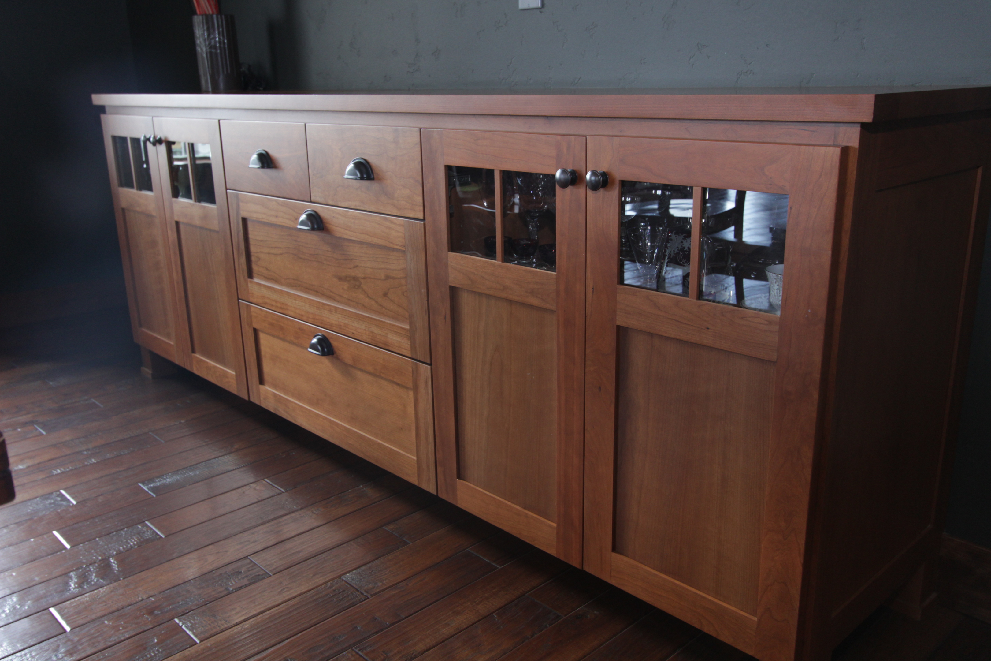 Affordable Custom Cabinets – Showroom With Medium Buffets With Wood Top (View 6 of 30)