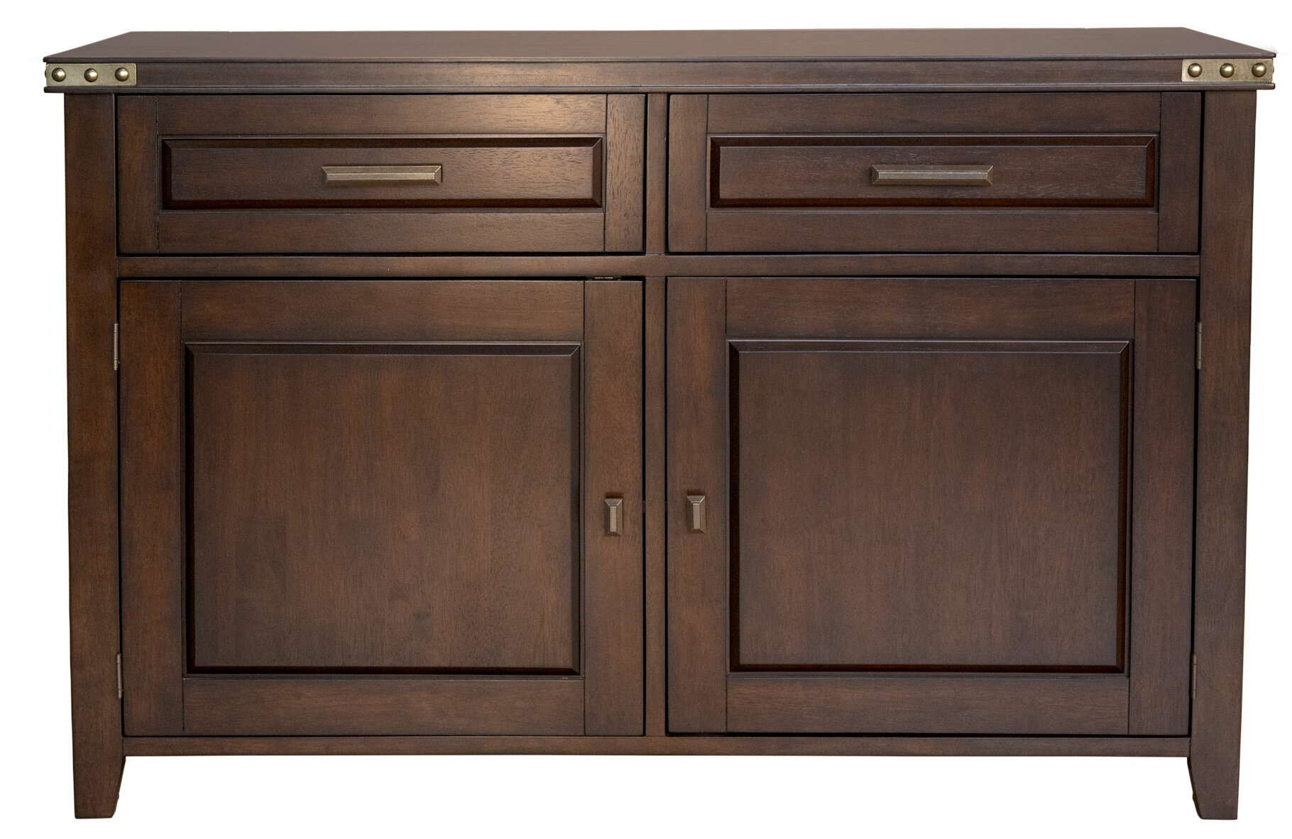 Aguayo Sideboard pertaining to Solid and Composite Wood Buffets in Cappuccino Finish (Image 1 of 30)
