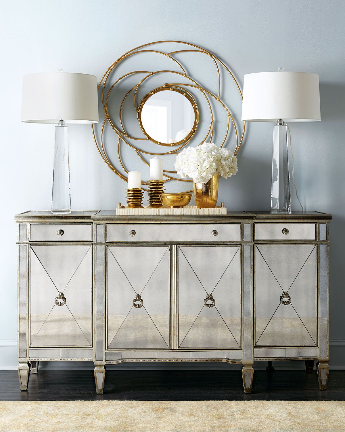 Amelie Mirrored Buffet | Cabinets, Display Units, Shelving intended for 3-Piece Mirrored Buffets (Image 1 of 30)