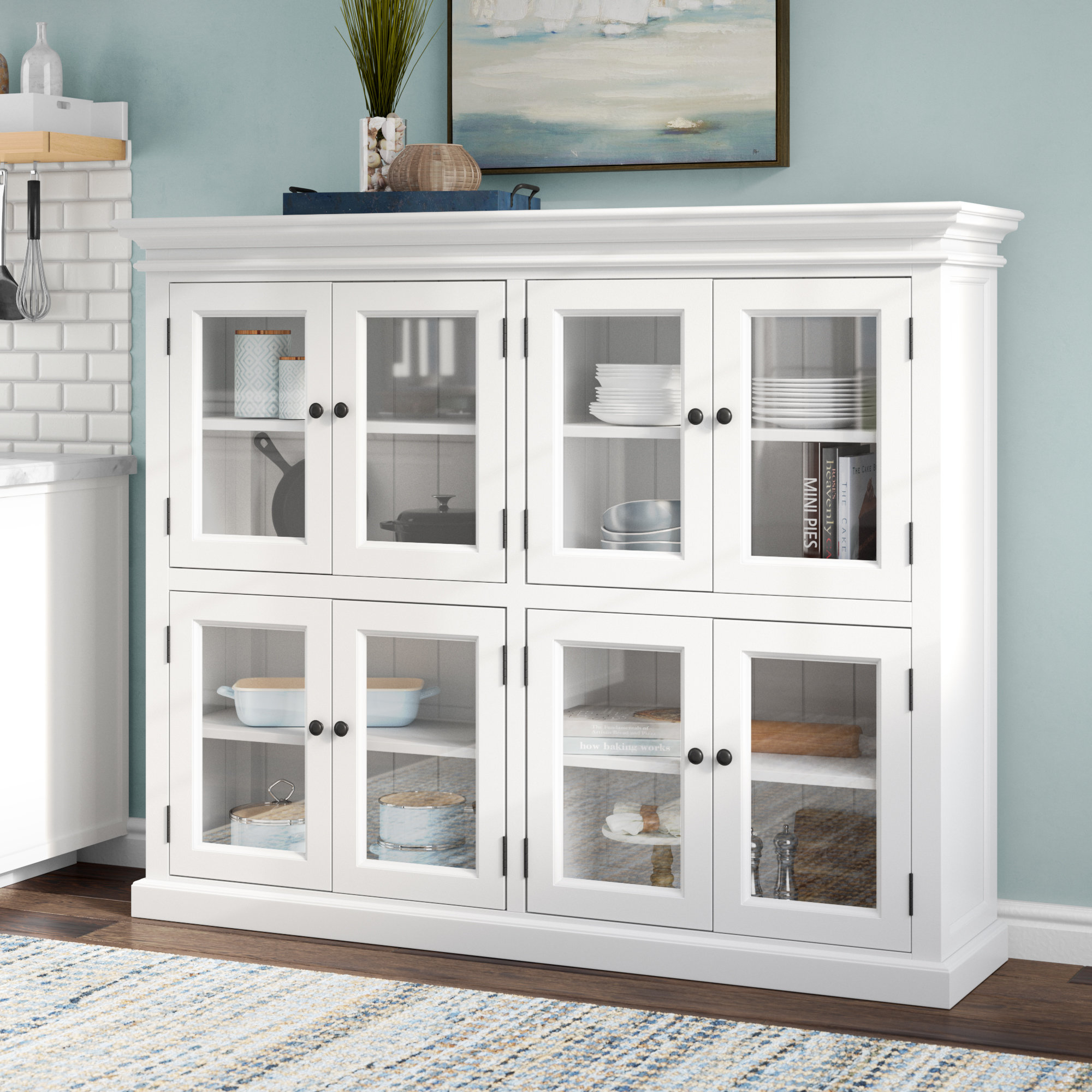 """Amityville 52"""" Kitchen Pantry With Amityville Sideboards (Image 1 of 30)"""