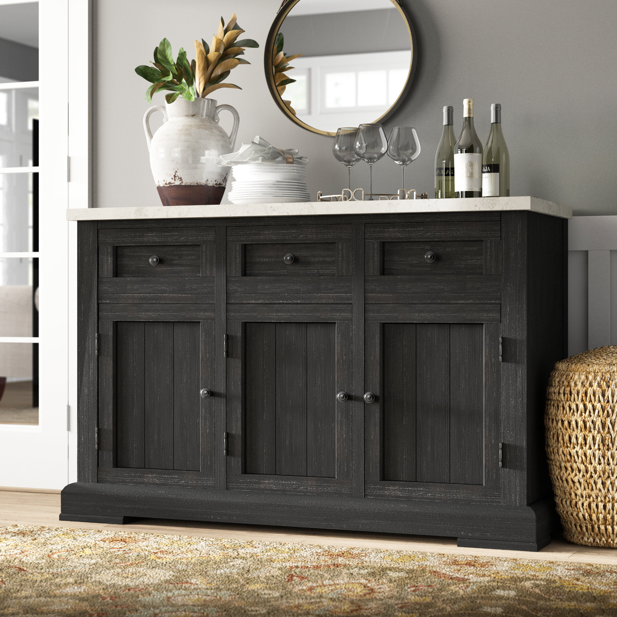 Amityville Wood Sideboard | Wayfair.ca for Amityville Wood Sideboards (Image 12 of 30)