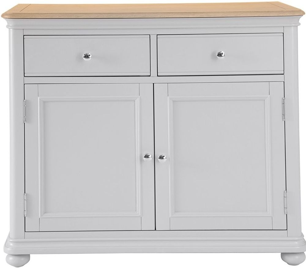 Annecy Medium Sideboard - Oak And Soft Grey Painted intended for Annecy Sideboards (Image 8 of 30)