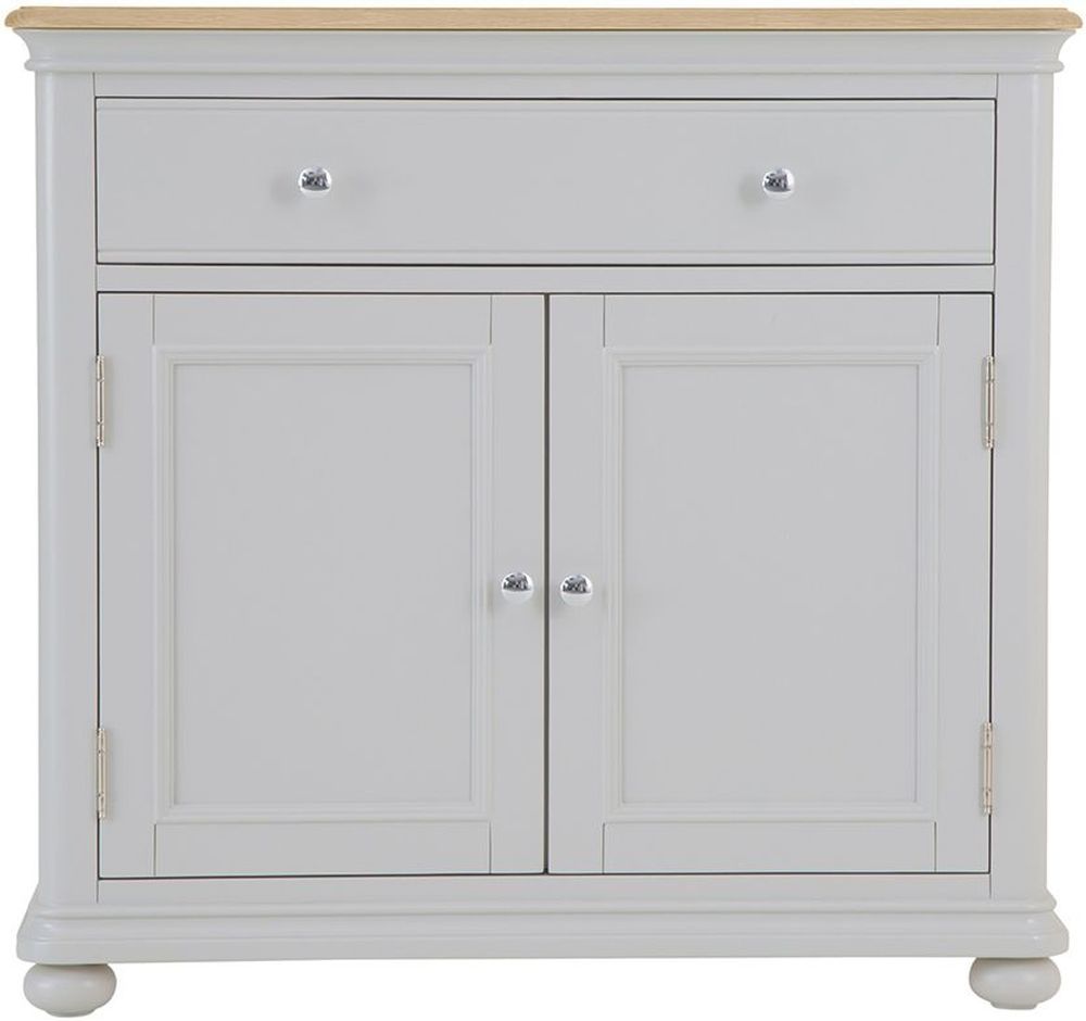 Annecy Small Sideboard - Oak And Soft Grey Painted pertaining to Annecy Sideboards (Image 10 of 30)