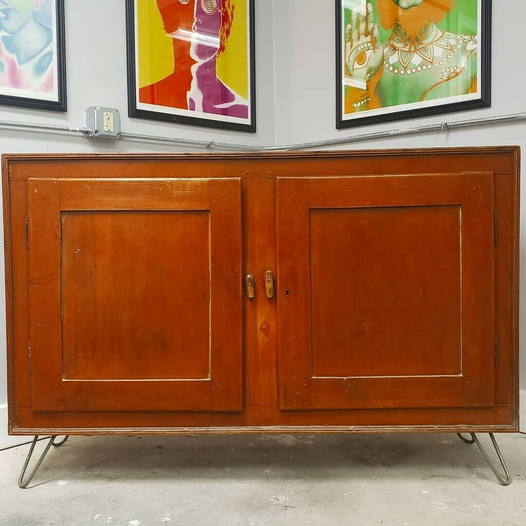 Antique 18th Century Commode Sideboard Credenza Rustic Cabinet Within Lowrey Credenzas (View 8 of 30)