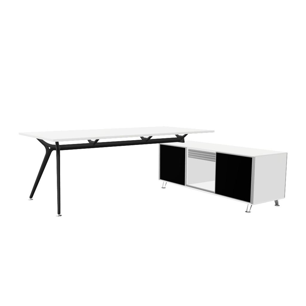 Arkitek Design Schreibtisch Mit Sideboard Pertaining To Alegre Sideboards (Image 4 of 30)