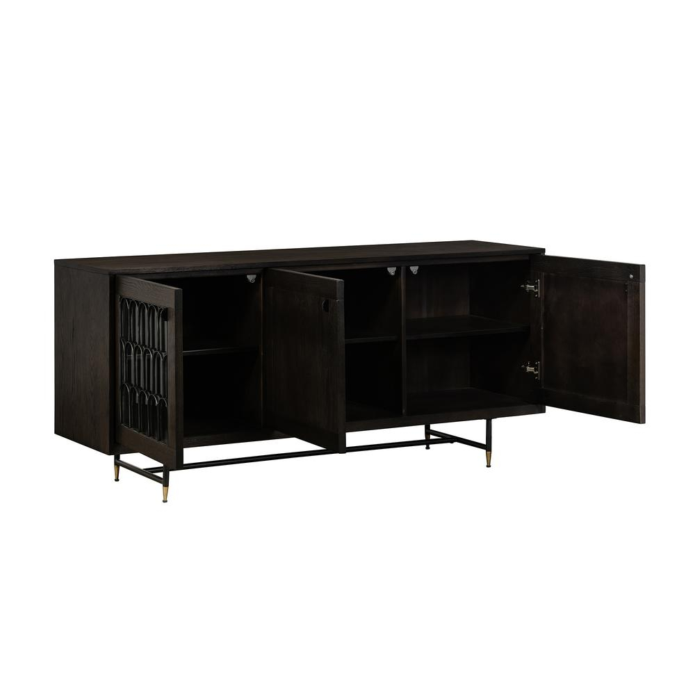 Armen Living Gatsby Oak And Metal Buffet Cabinet Lcgtbuoa throughout Industrial Concrete-Like Buffets (Image 2 of 30)