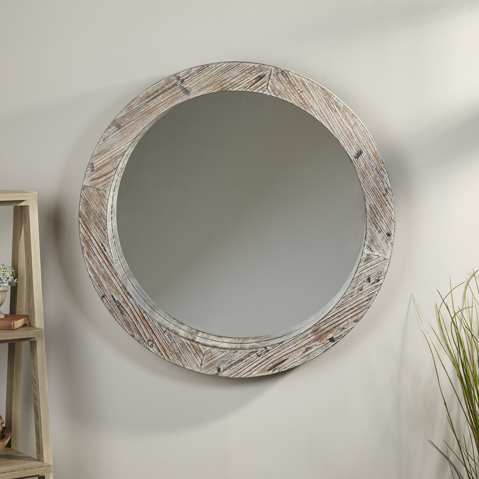 Arminta Cottage/country Accent Mirror inside Arminta Wood Sideboards (Image 3 of 30)