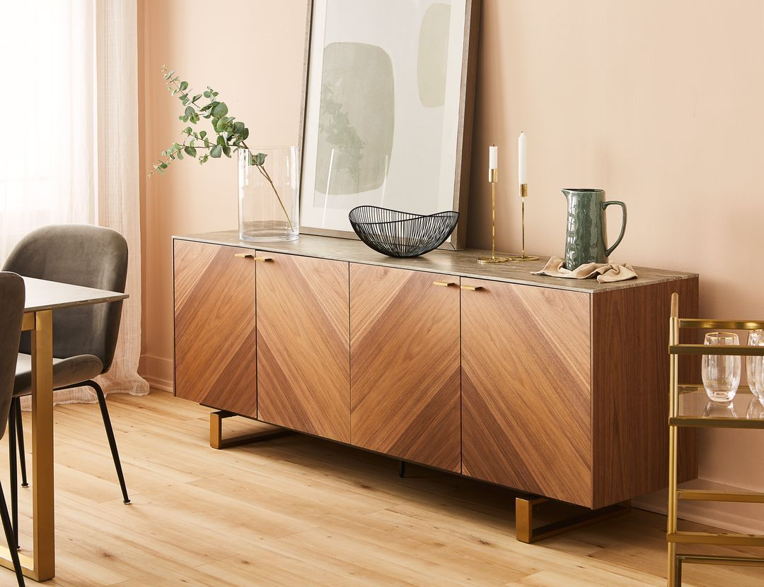 Arto Grey Walnut Veneer Sideboard | Sideboard In 2019 inside North York Sideboards (Image 1 of 30)