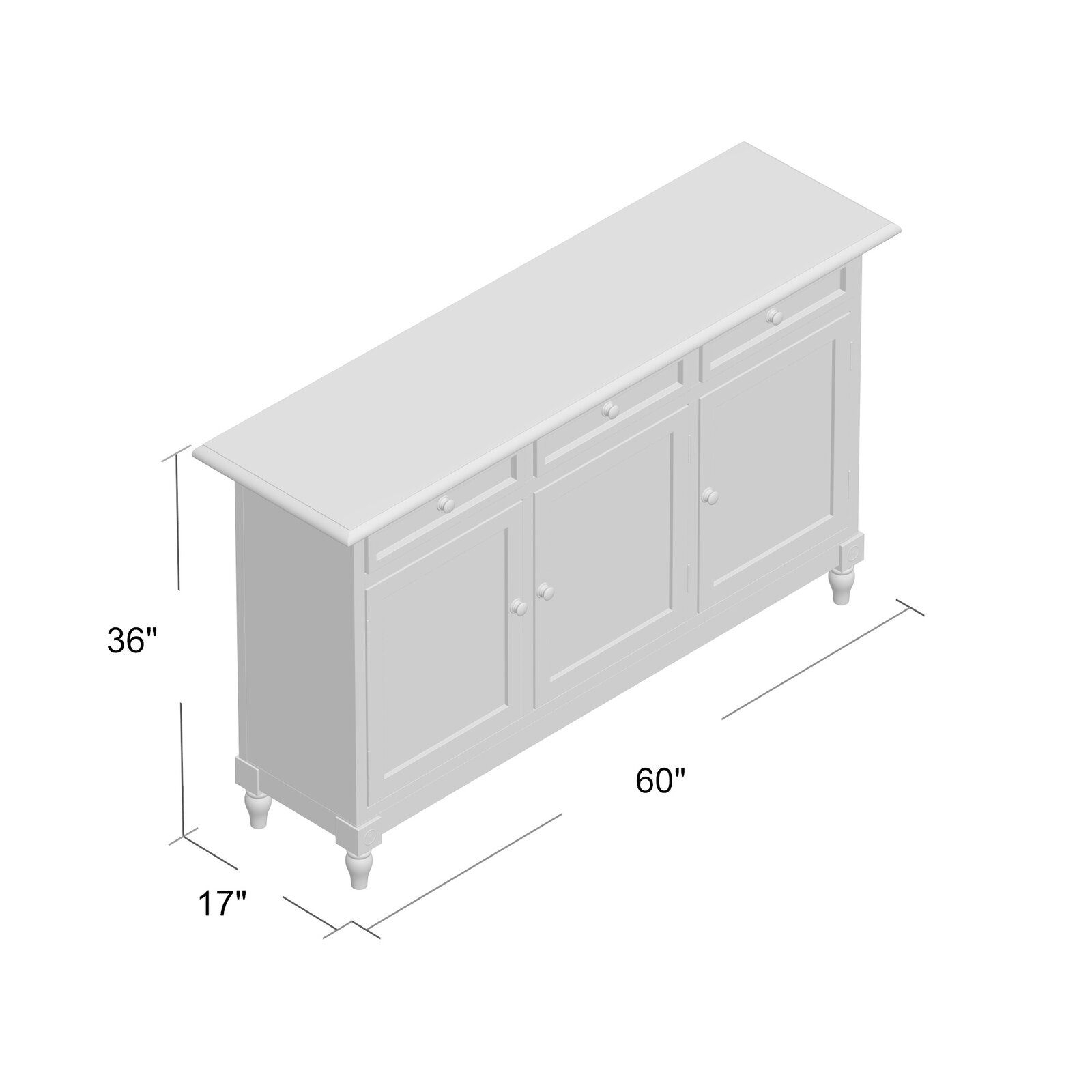 August Grove Leonard 3 Drawer 3 Door Accent Cabinet   Family With Giulia 3 Drawer Credenzas (View 22 of 30)