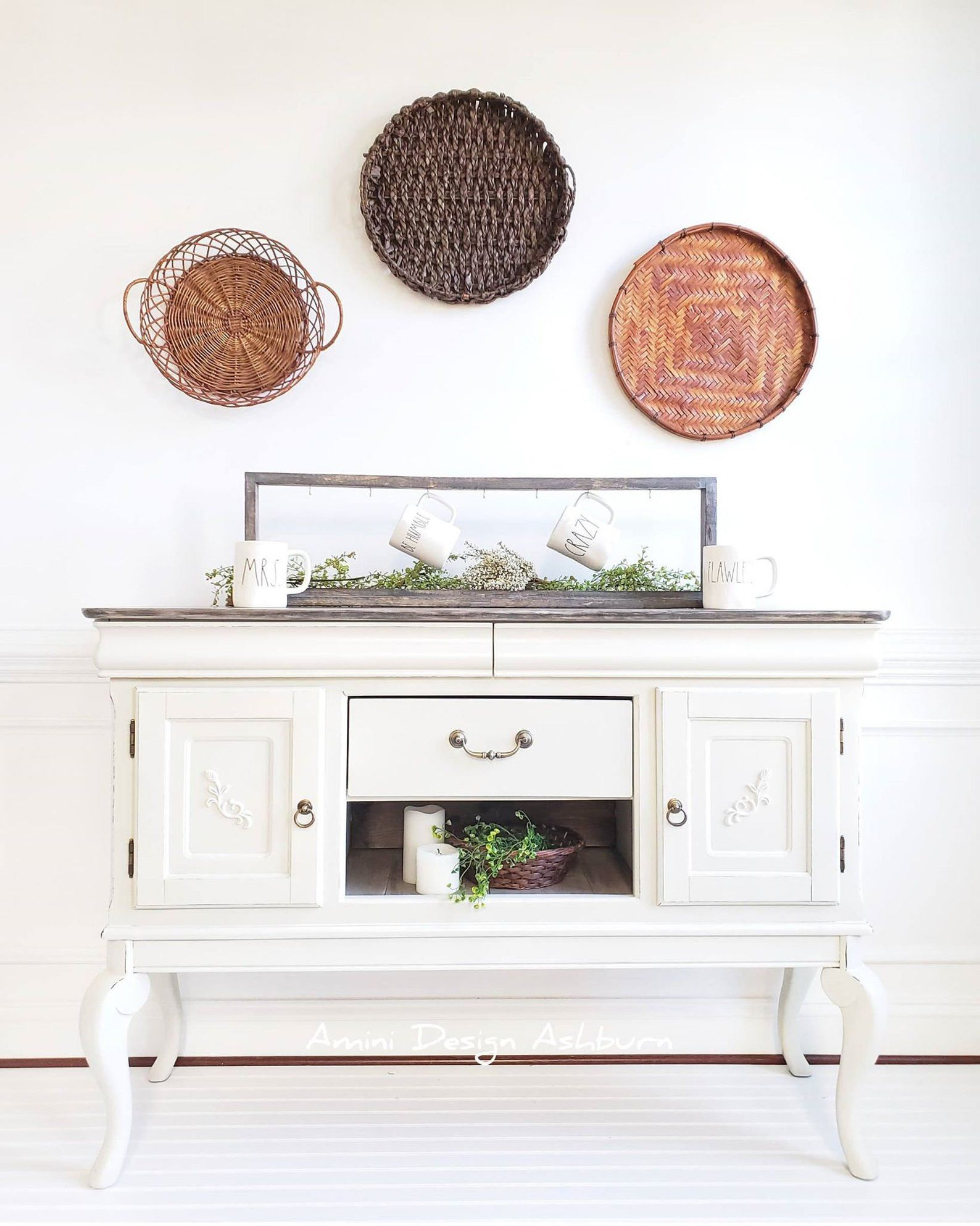Available – Coffee Bar Sideboard Buffet Farmhouse Painted In With Cambrai Sideboards (View 1 of 30)
