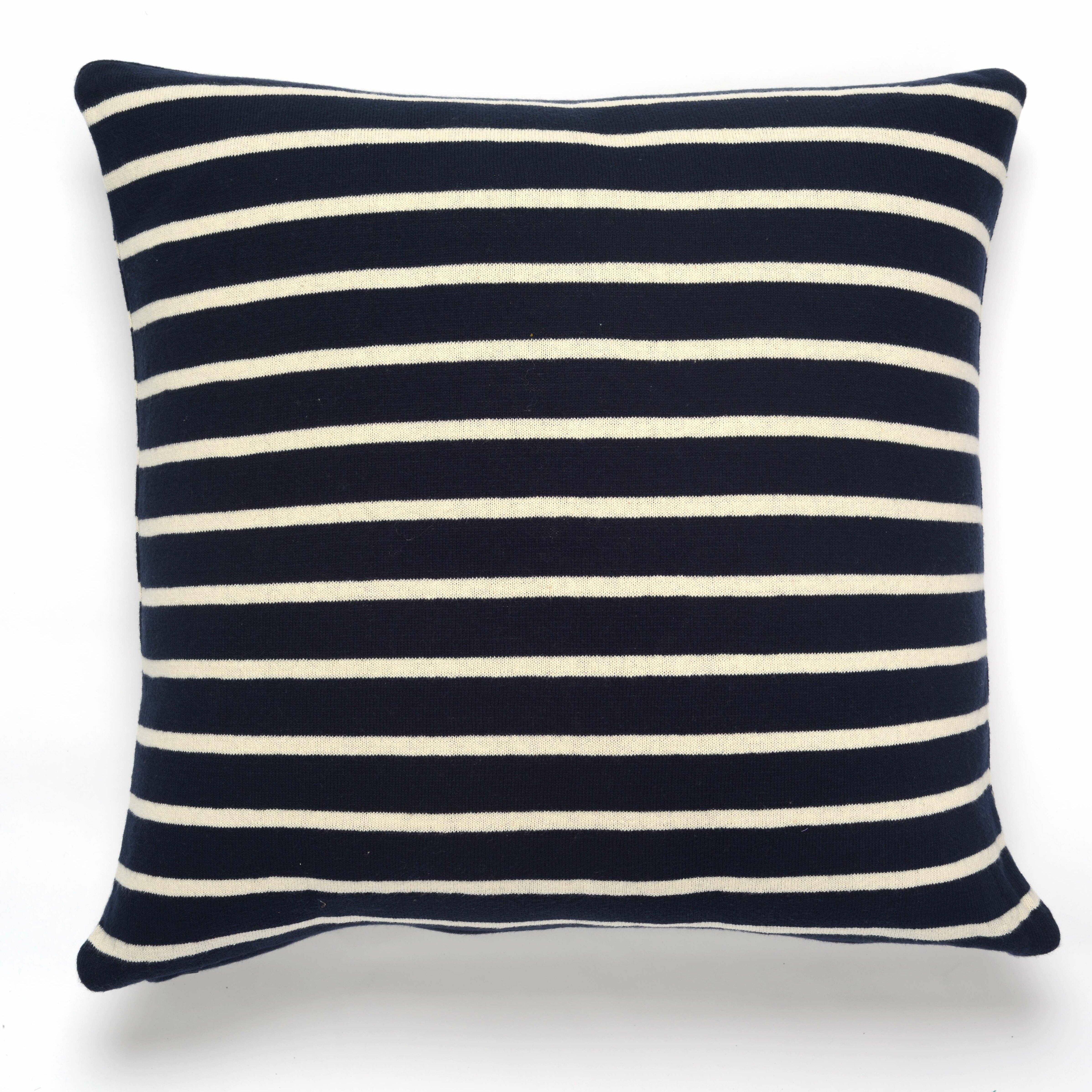 Beach Stripes Cotton Throw Pillow Inside Beach Stripes Credenzas (View 23 of 30)