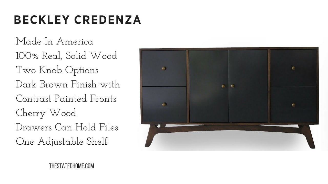 Beckley Credenza – Chic Storage – Solid Wood, American Made From The Stated Home Within Turquoise Skies Credenzas (View 20 of 30)