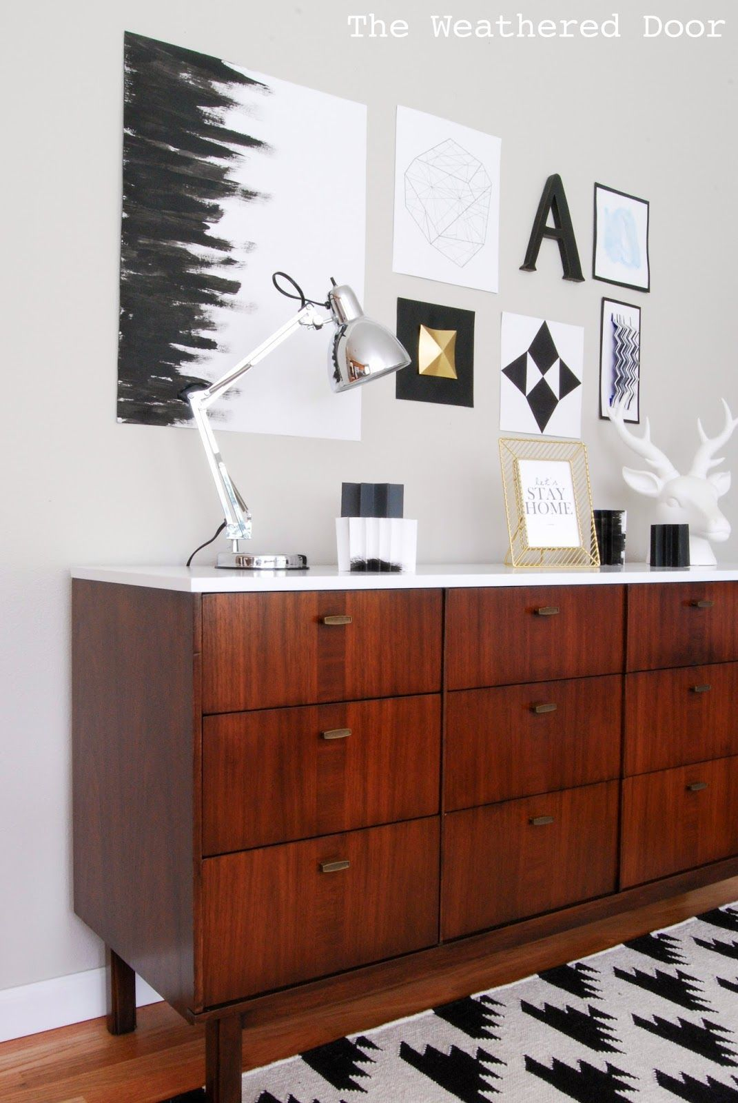 Before & After: Mid Century Modern Credenza With A Glossy Pertaining To Mid Century Modern Glossy White Buffets (View 9 of 30)