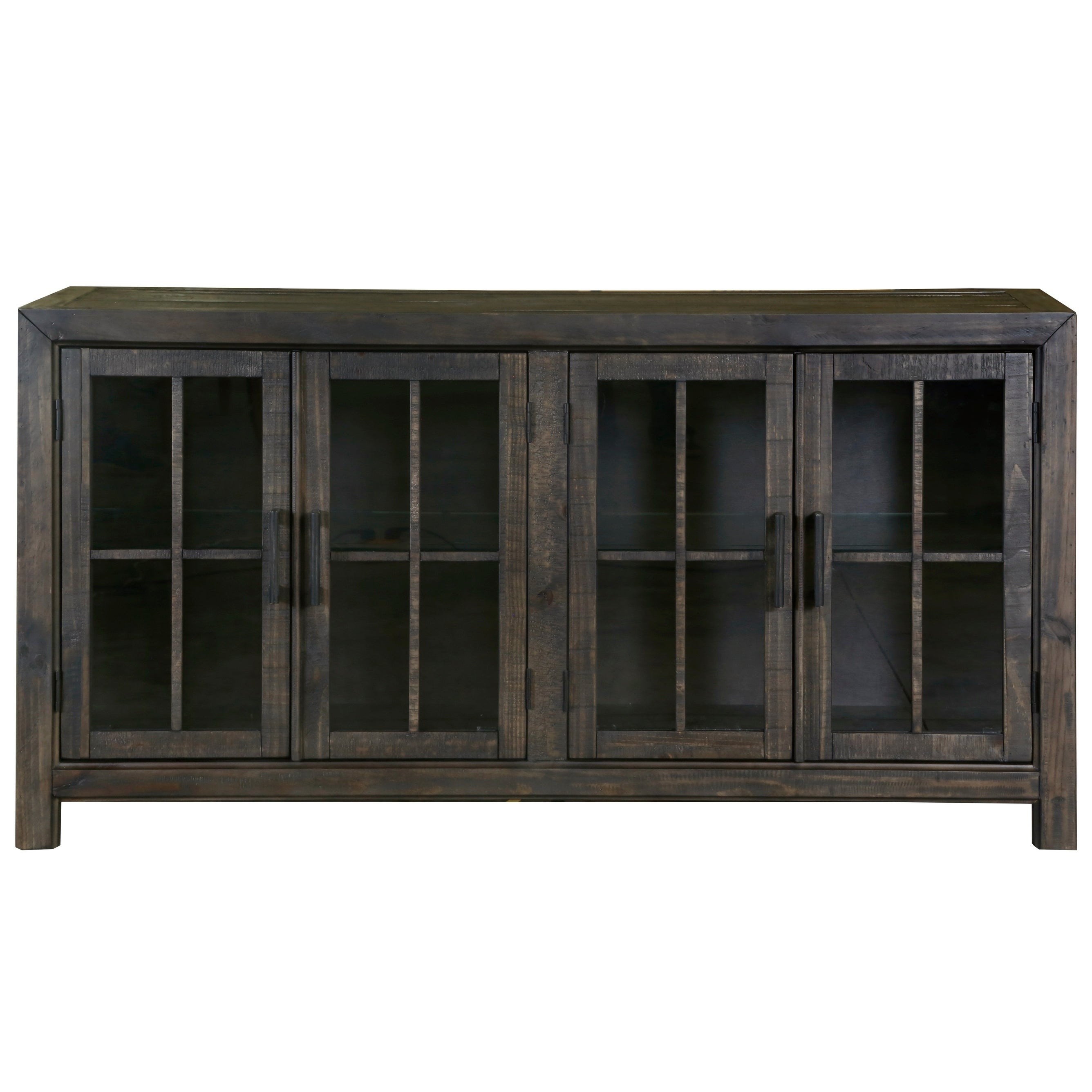 Bellamy Traditional Peppercorn Wood Buffet Curio In Espresso Wood Multi Use Buffets (View 10 of 30)