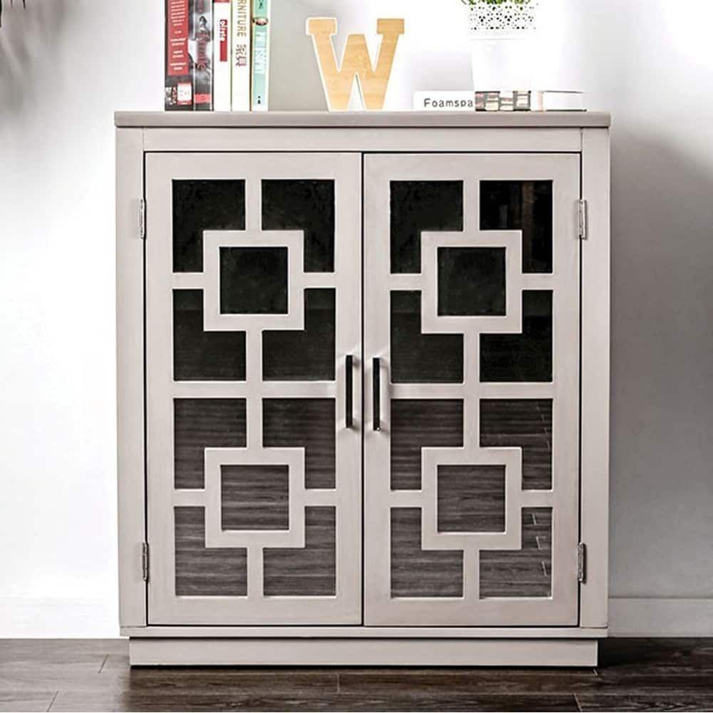 Benzara Lora Contemporary Hallway Cabinet, Gray | Products Pertaining To Candace Door Credenzas (View 9 of 30)