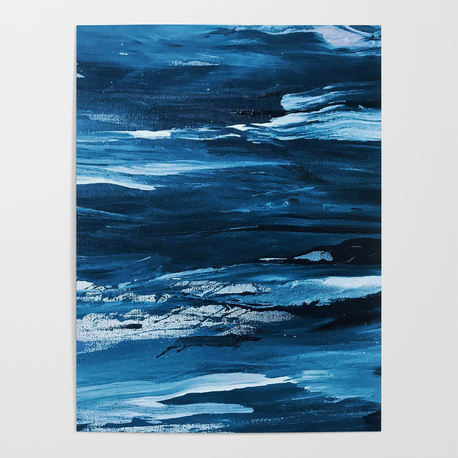 Blue Brush Strokes (Color) Posternocolordesigns In Strokes And Waves Credenzas (View 4 of 30)
