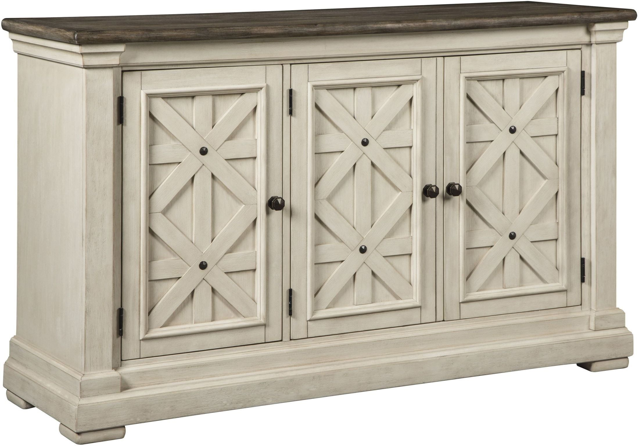 Bolanburg White And Gray Rectangular Counter Height Dining Regarding Tavant Sideboards (View 13 of 30)
