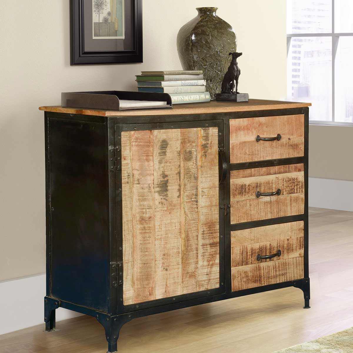 Popular Photo of Industrial Style 3 Drawer Buffets