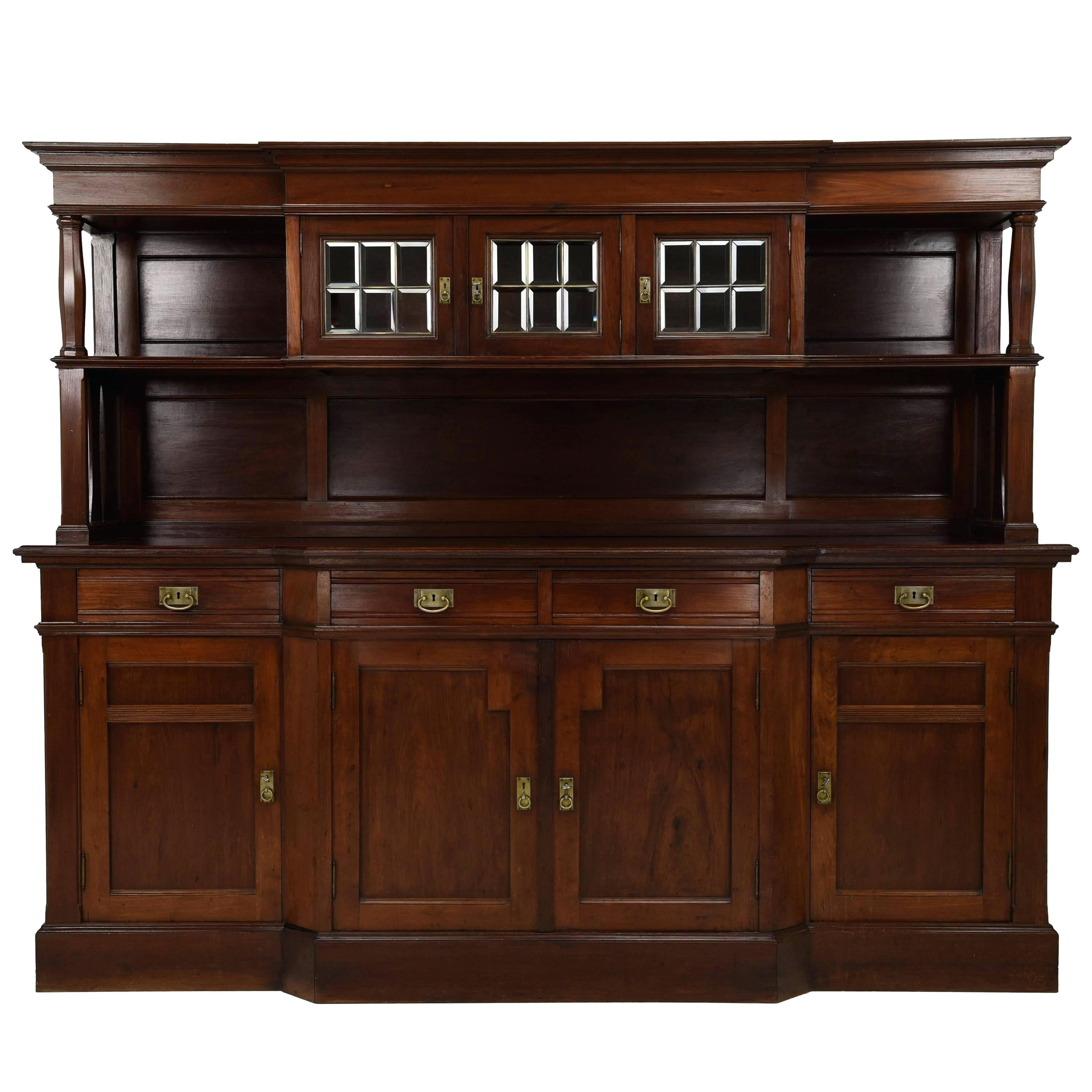 Buffet Cabinet with regard to Solid And Composite Wood Buffets In Cappuccino Finish (Image 4 of 30)