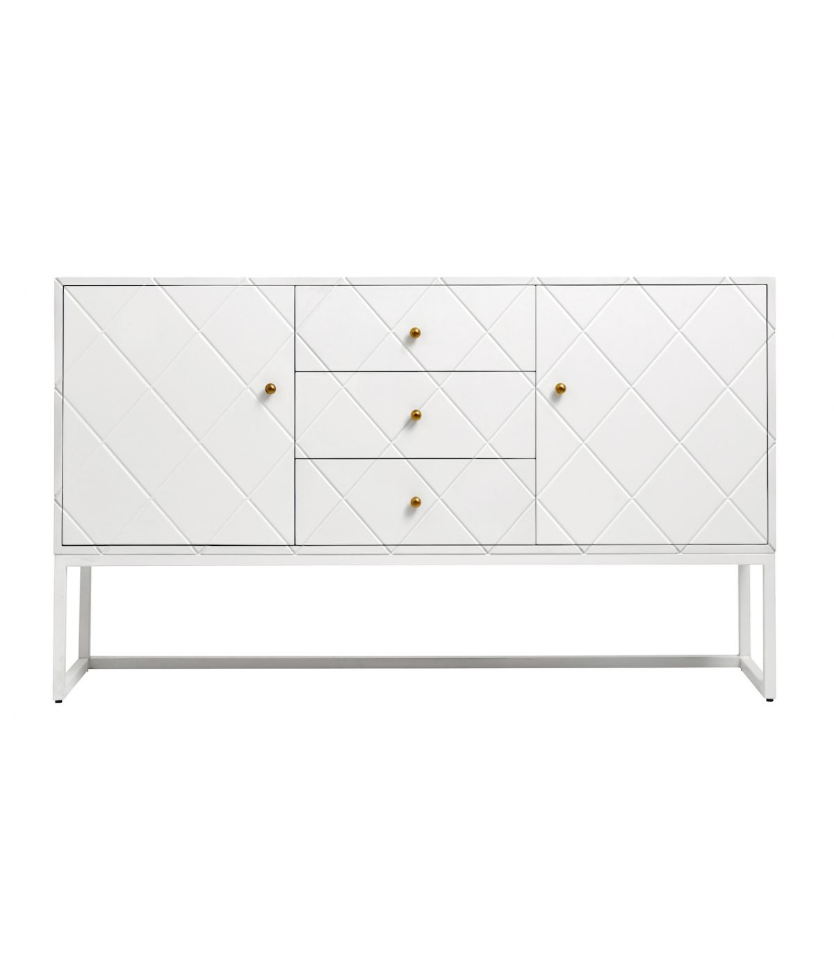 Buffet In Lacquered Wood And Stuck Brass inside 3-Drawer Black Storage Buffets (Image 13 of 30)