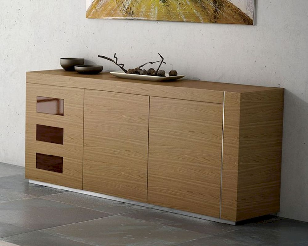 Buffet Inez In Walnut Finish European Design Made In Spain For Cappuccino Finished Buffets (View 2 of 30)