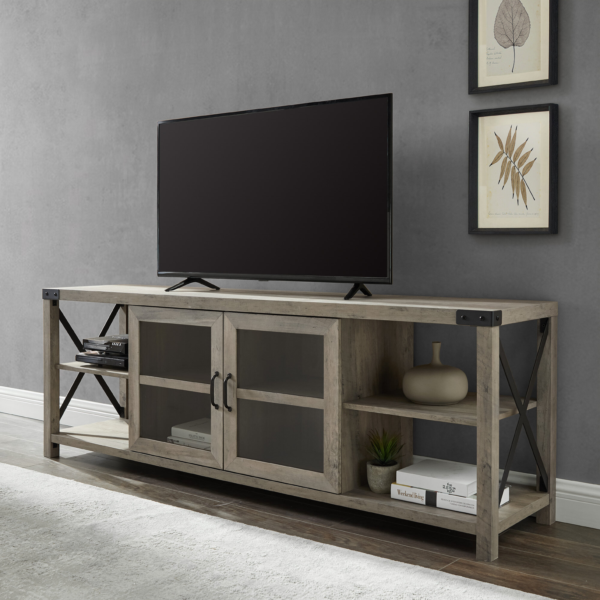 "Buffet Tv Stand | Wayfair.ca inside Colefax Vintage Tv Stands For Tvs Up To 78"" (Image 6 of 30)"