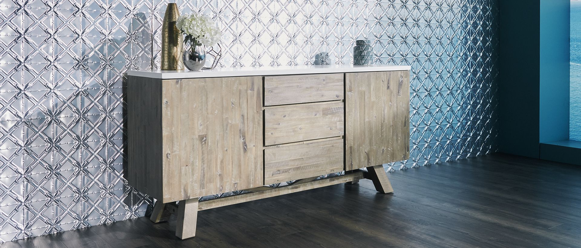 Buffets, Cabinets & Sideboards | Nick Scali within Industrial Concrete-Like Buffets (Image 9 of 30)