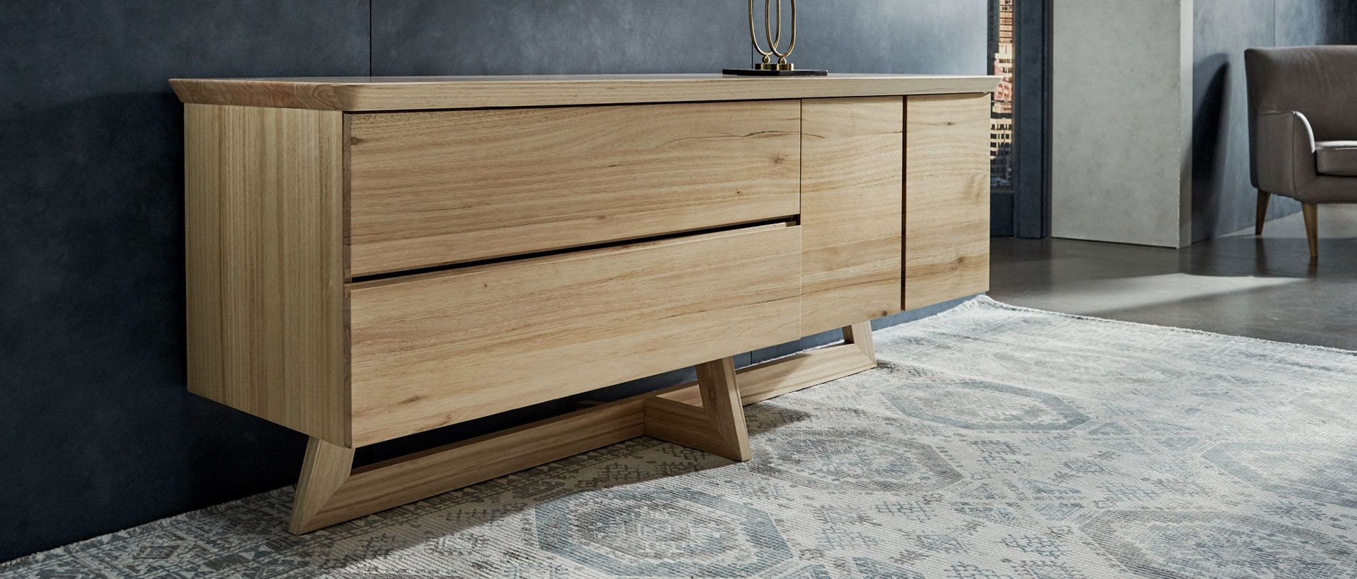 Buffets, Cabinets & Sideboards | Nick Scali within Industrial Concrete-Like Buffets (Image 8 of 30)