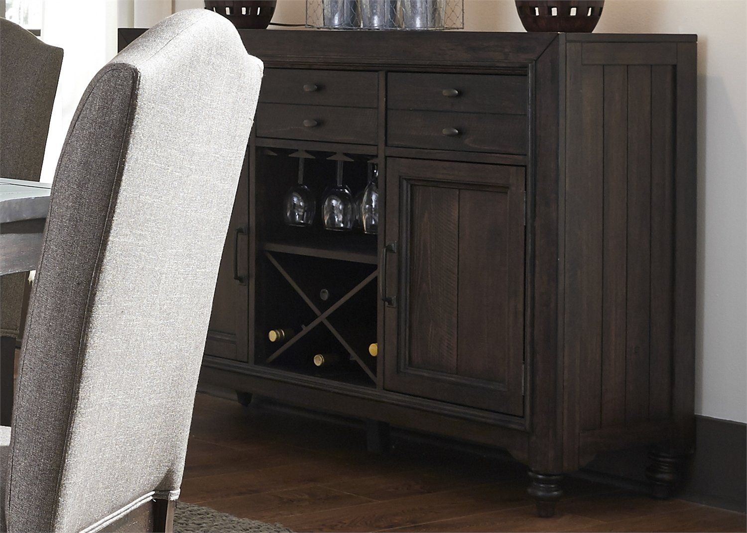 Bulpitt Buffet Table | Products | Liberty Furniture Throughout Caines Credenzas (View 5 of 30)