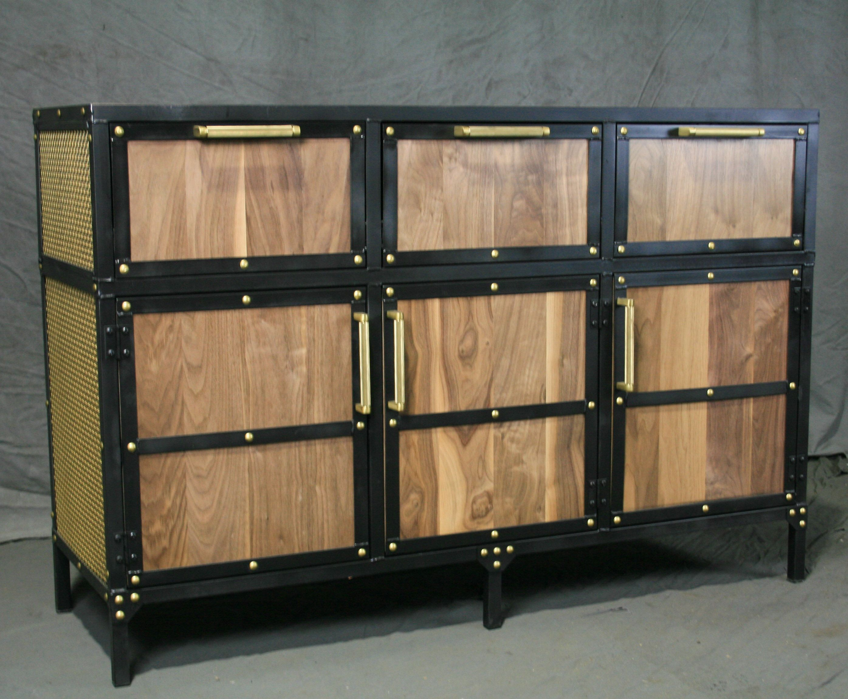 Buy A Handmade Industrial Sideboard With Brass Accents pertaining to Industrial Concrete-Like Buffets (Image 10 of 30)