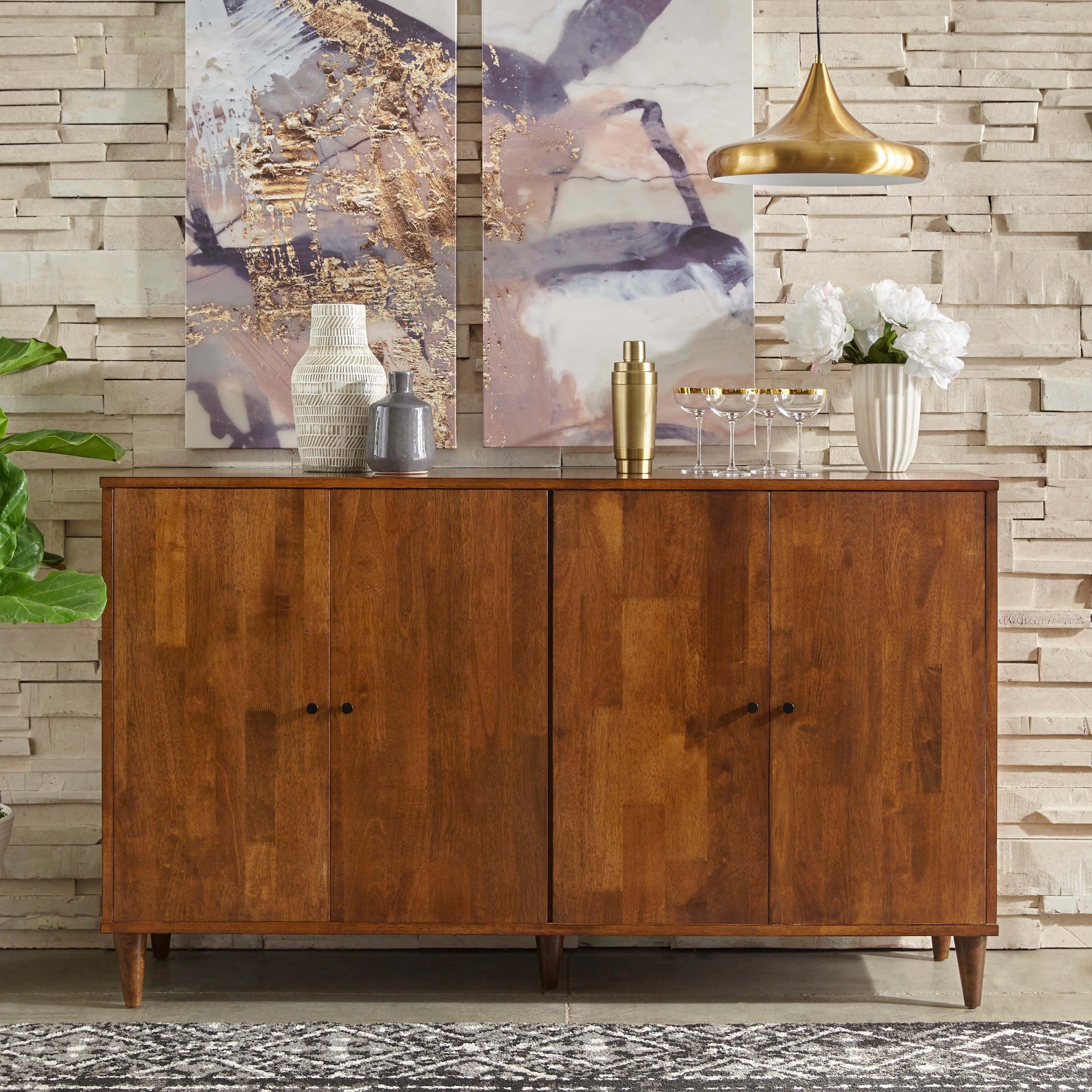 Buy Brown Buffets, Sideboards & China Cabinets Online At Pertaining To Strick & Bolton Dallas Walnut Buffets (View 12 of 30)