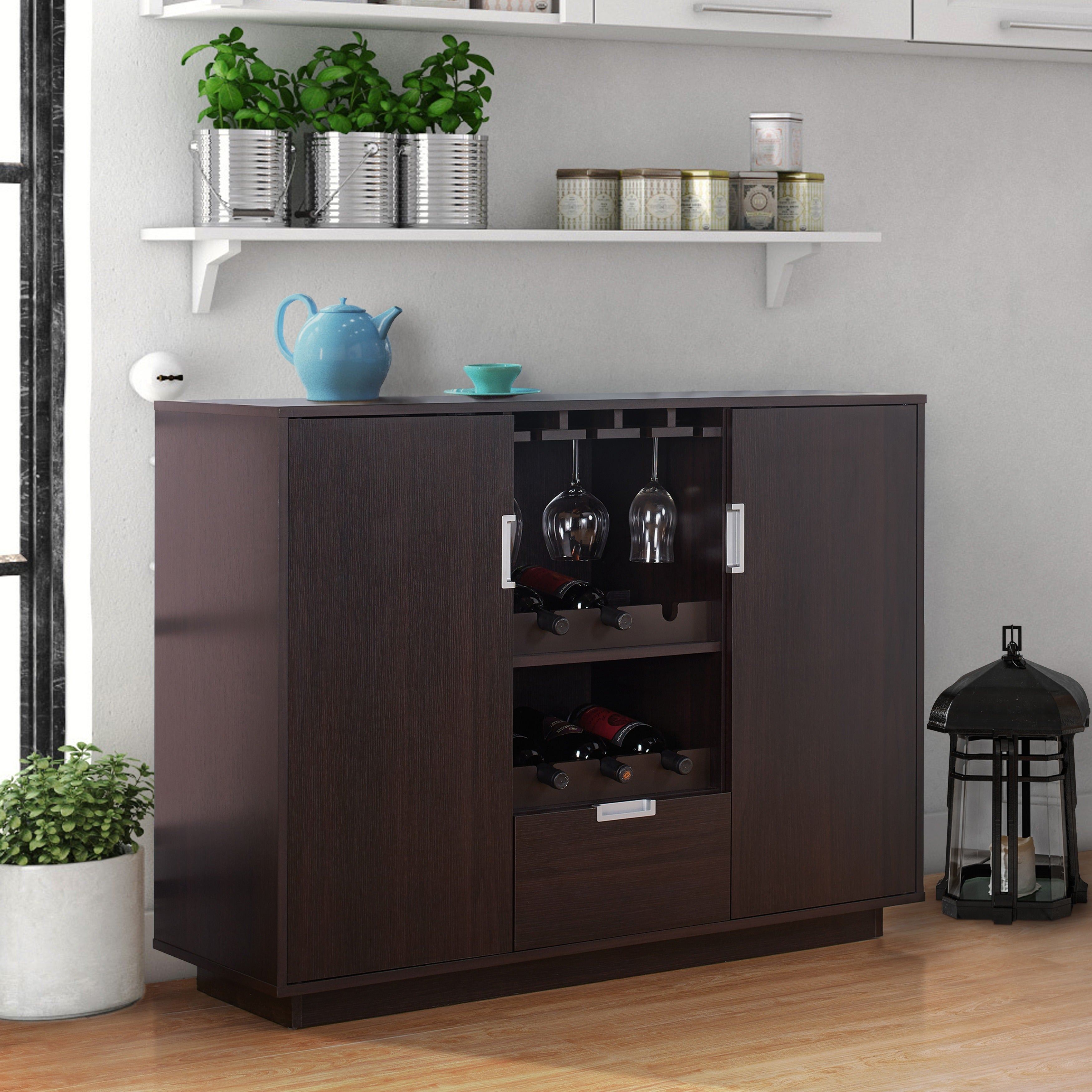 Buy Espresso Finish Buffets, Sideboards & China Cabinets Intended For Espresso Wood Multi Use Buffets (View 6 of 30)