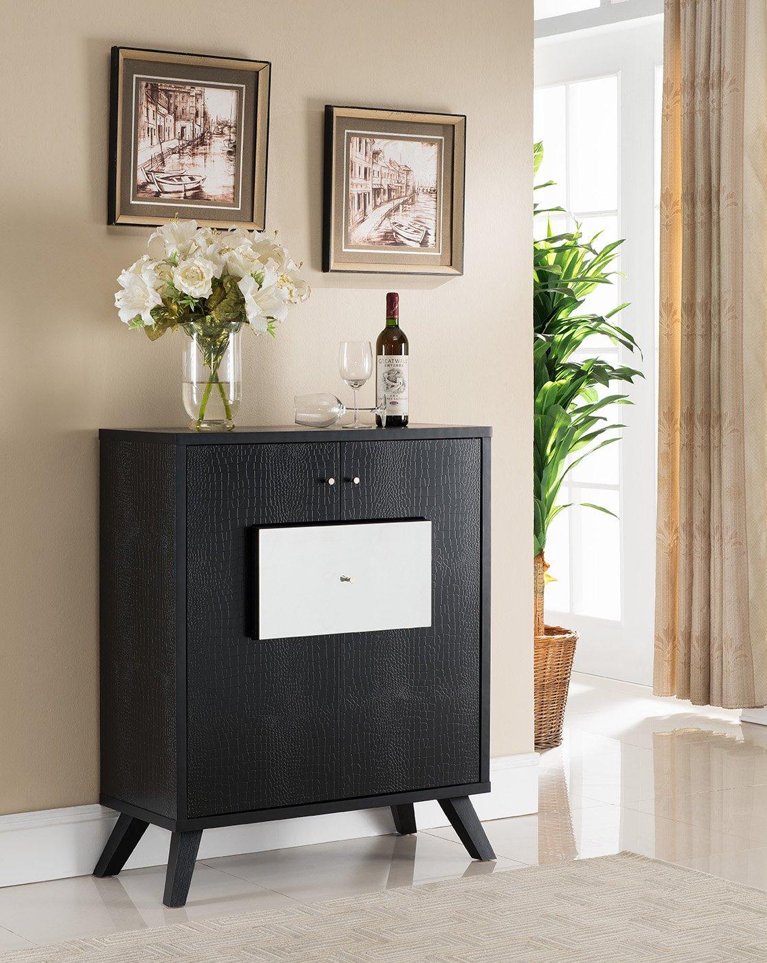 Buy Modern Fine Dining Wine Dark Espresso Storage Buffet Intended For Modern Espresso Storage Buffets (View 3 of 30)
