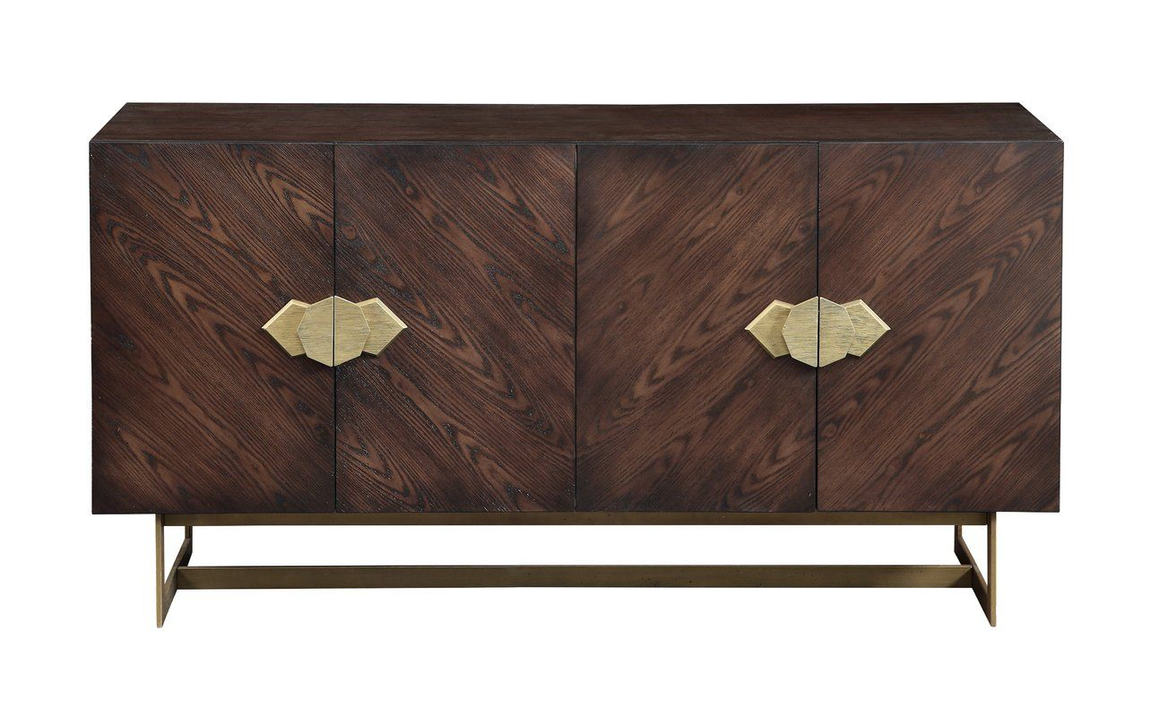 Caius Media Credenza In 2019 | Bungalow La Replen | Credenza With Regard To Armelle Sideboards (Image 8 of 30)