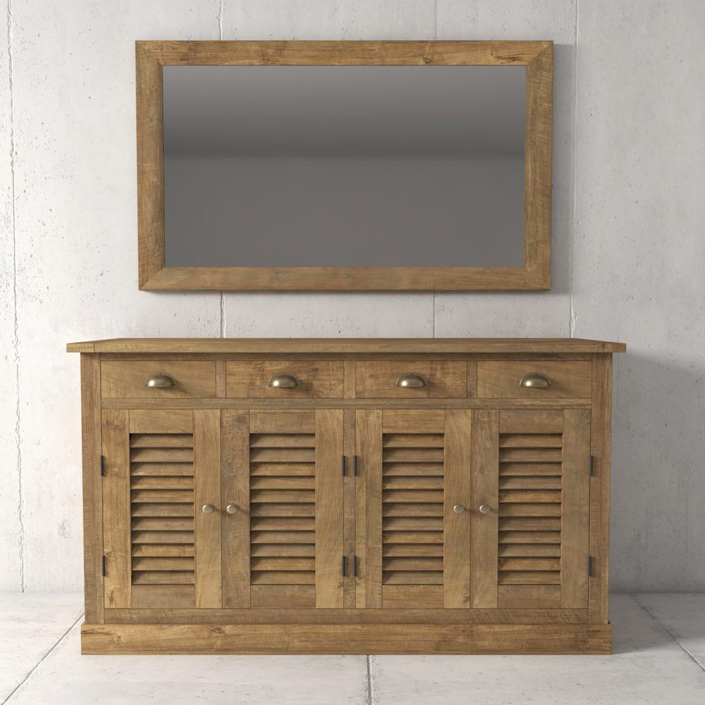 Cakkahan 55 In. Natural Dining Buffet 600H.55Db.am.n - The for Modern Natural Oak Dining Buffets (Image 6 of 30)
