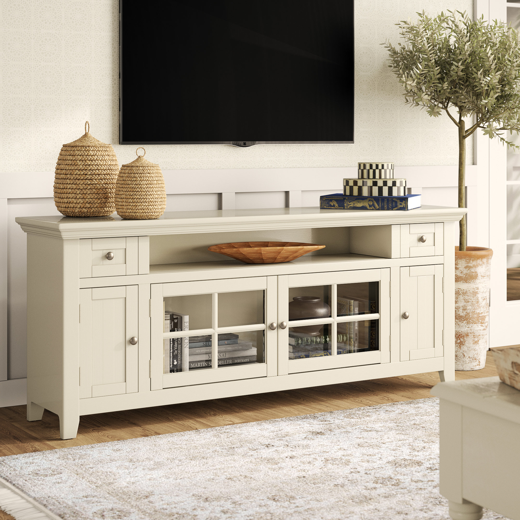 "Calila Tv Stand For Tvs Up To 70"" regarding Colefax Vintage Tv Stands for Tvs Up to 78"" (Image 7 of 30)"