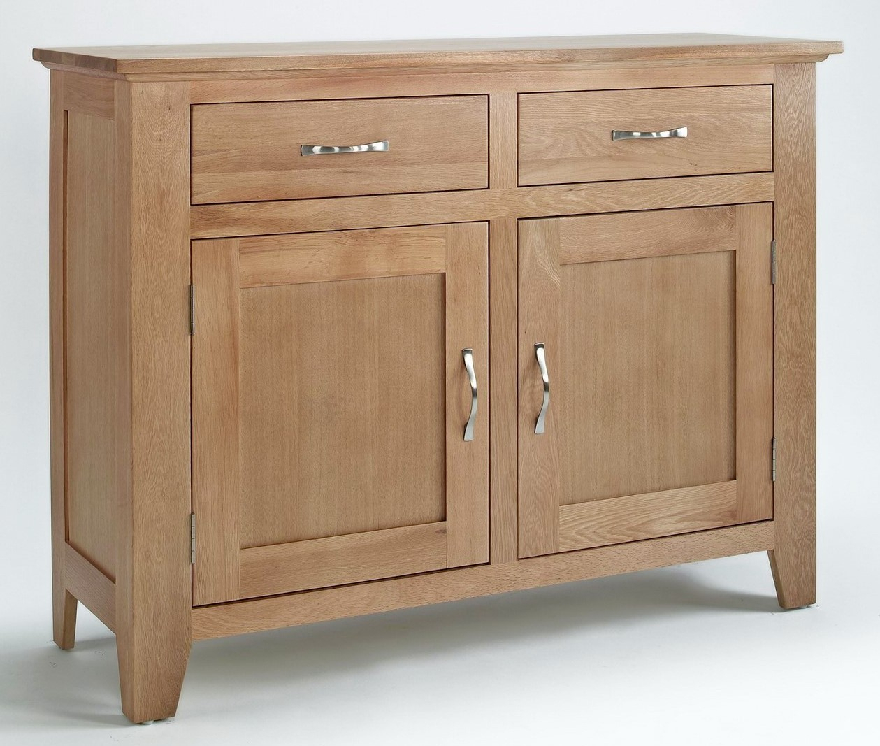 Camberley Oak 2 Door 2 Drawer Sideboard | Hallowood For Clifton Sideboards (View 1 of 30)