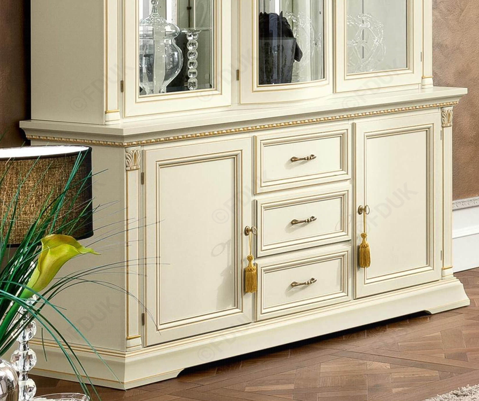 Camel Group Treviso White Ash Finish 2 Door 3 Drawer Buffet inside 3-Drawer Storage Buffets (Image 7 of 30)