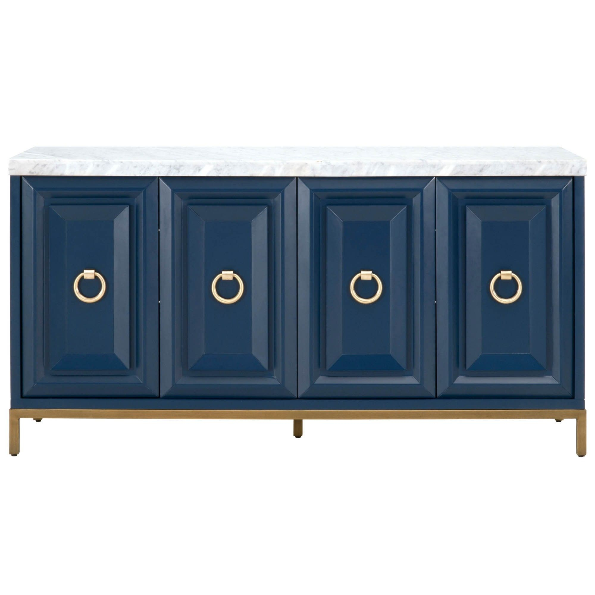 Candelabra Home Azure Carrera Sideboard – Navy | Greenway Inside Carrera Contemporary Black Dining Buffets (View 3 of 30)