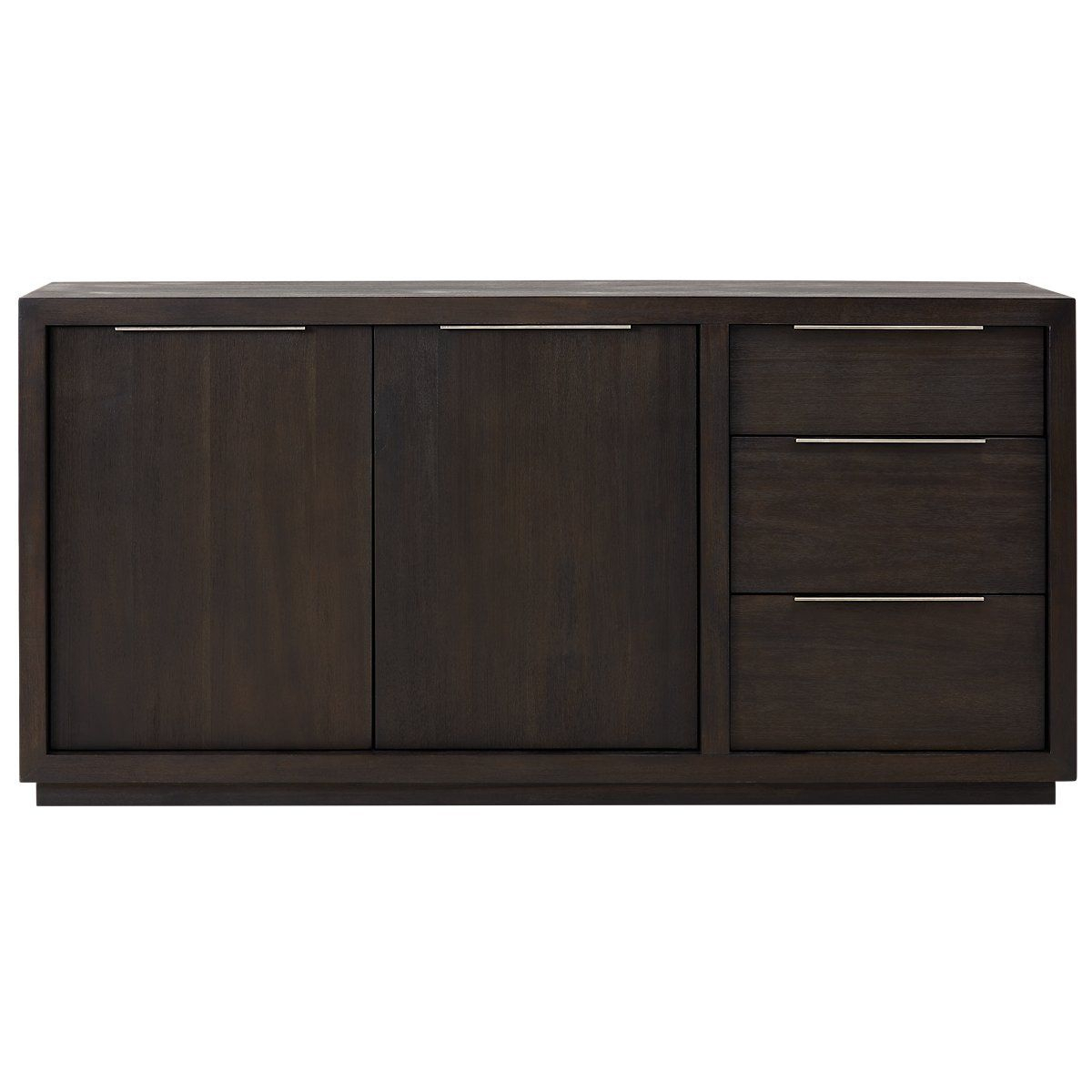 Candide Dark Gray Wood Credenza | Dining Room | Grey Wood intended for Candide Wood Credenzas (Image 8 of 30)