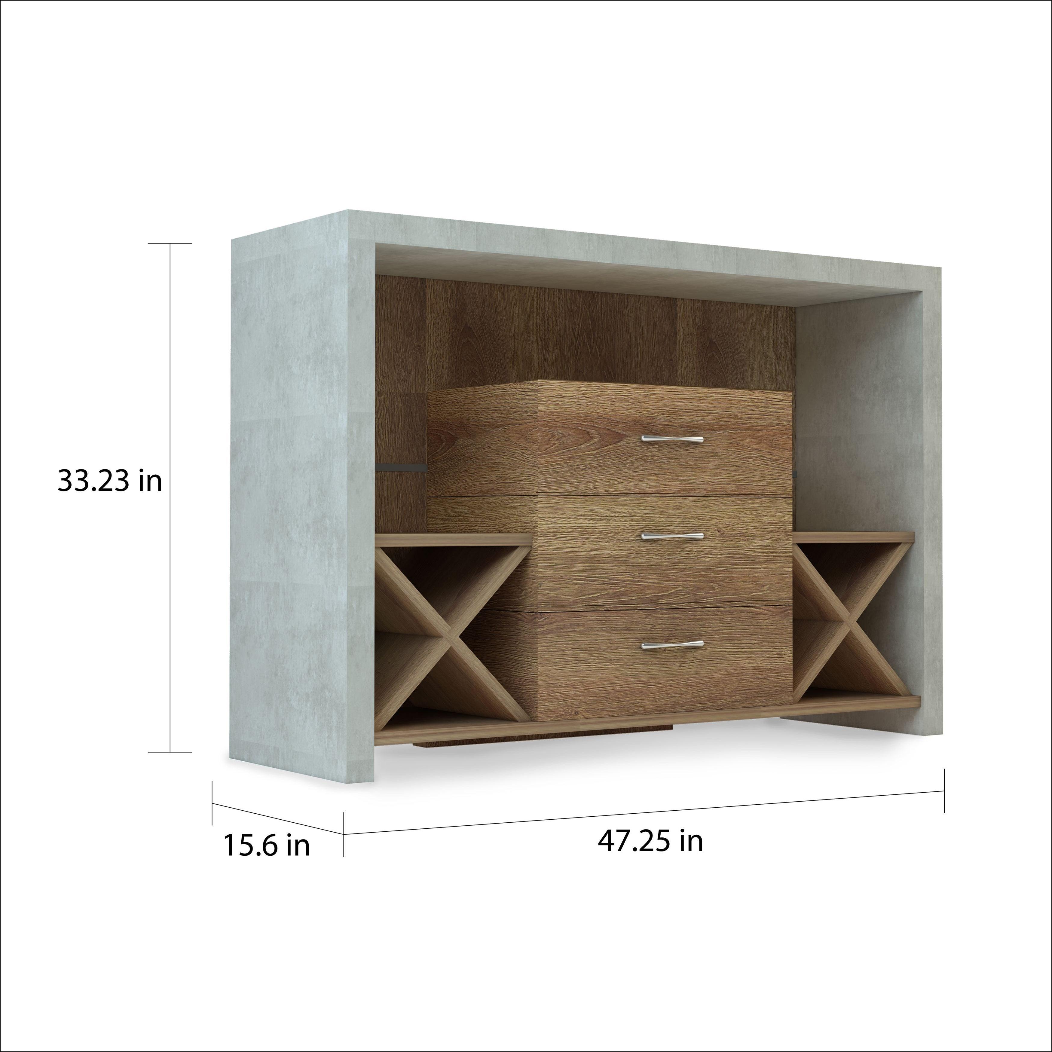 Carbon Loft Graysen Industrial Concrete-Like Buffet for Industrial Concrete-Like Buffets (Image 12 of 30)