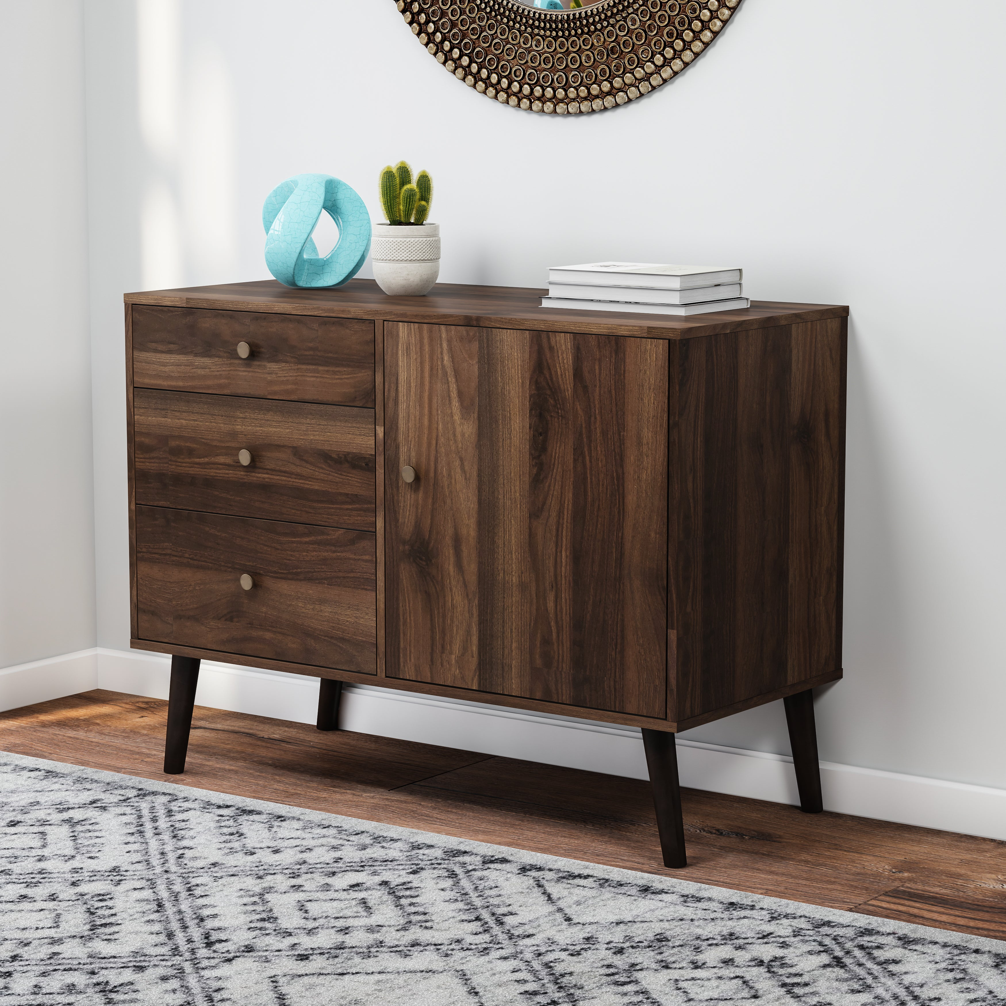 Carson Carrington Horsens Mid Century Buffet For Mid Century White Buffets (View 9 of 30)
