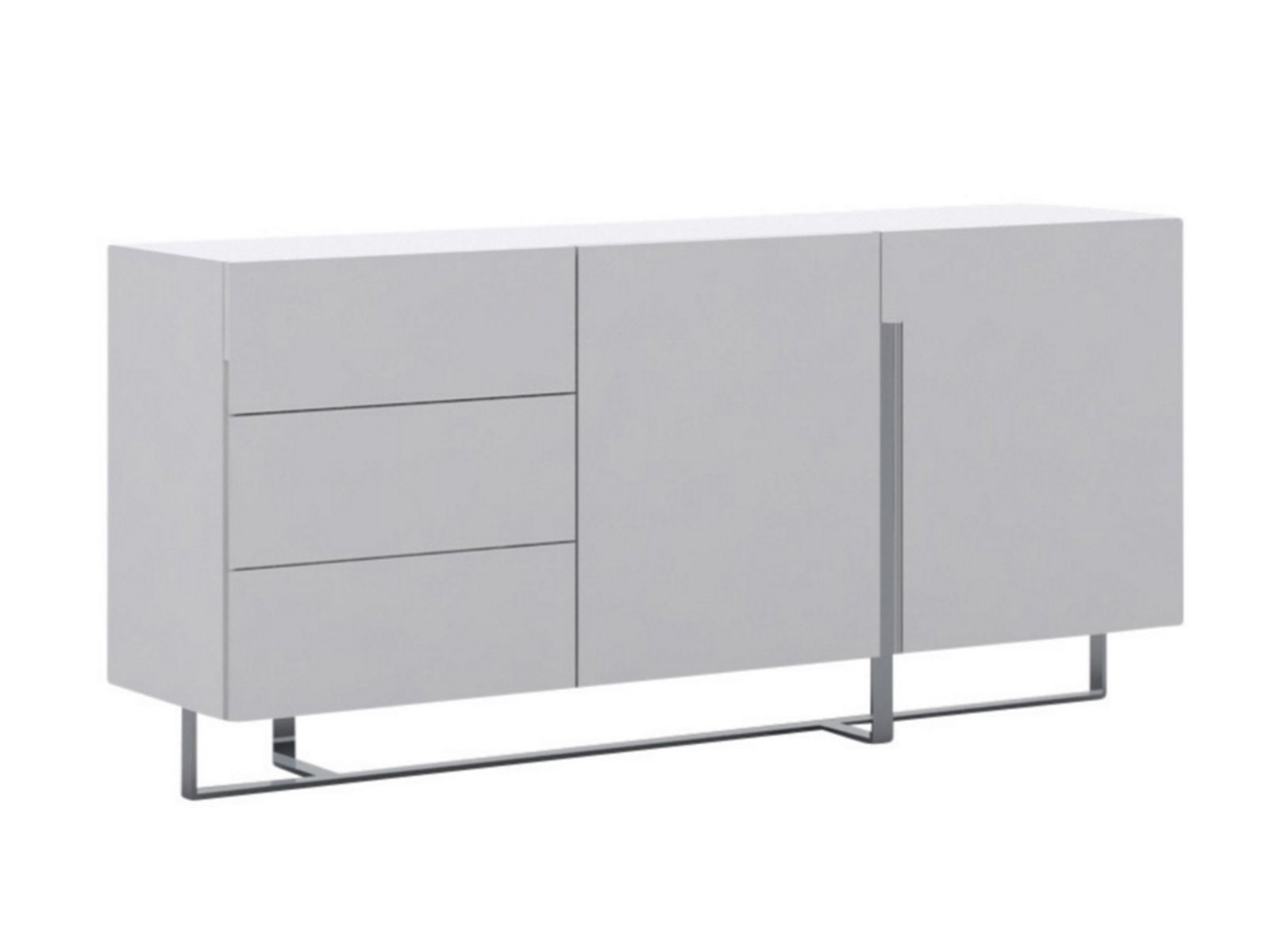 Casabianca Collins High Gloss White Lacquer Buffet – Cb In Wendell Sideboards (View 22 of 30)