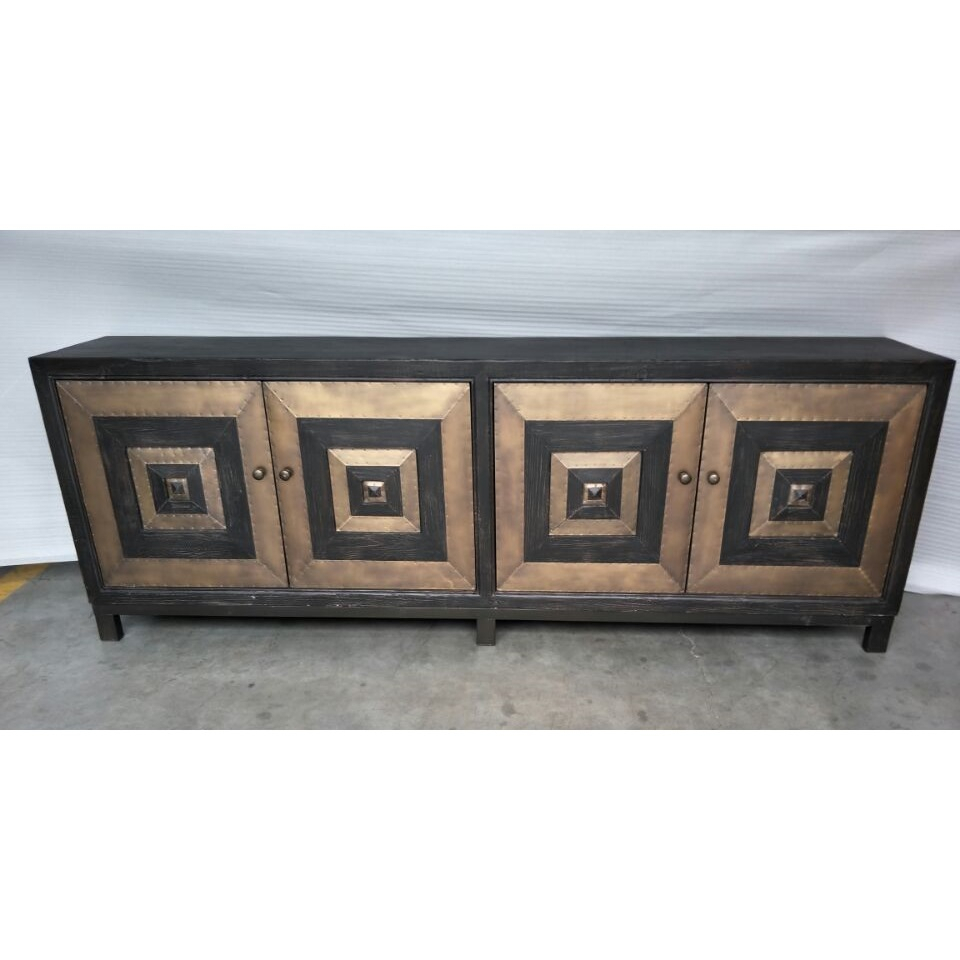 Cdh 4 Door Sideboard In Antique Brass With Solana Sideboards (View 4 of 30)