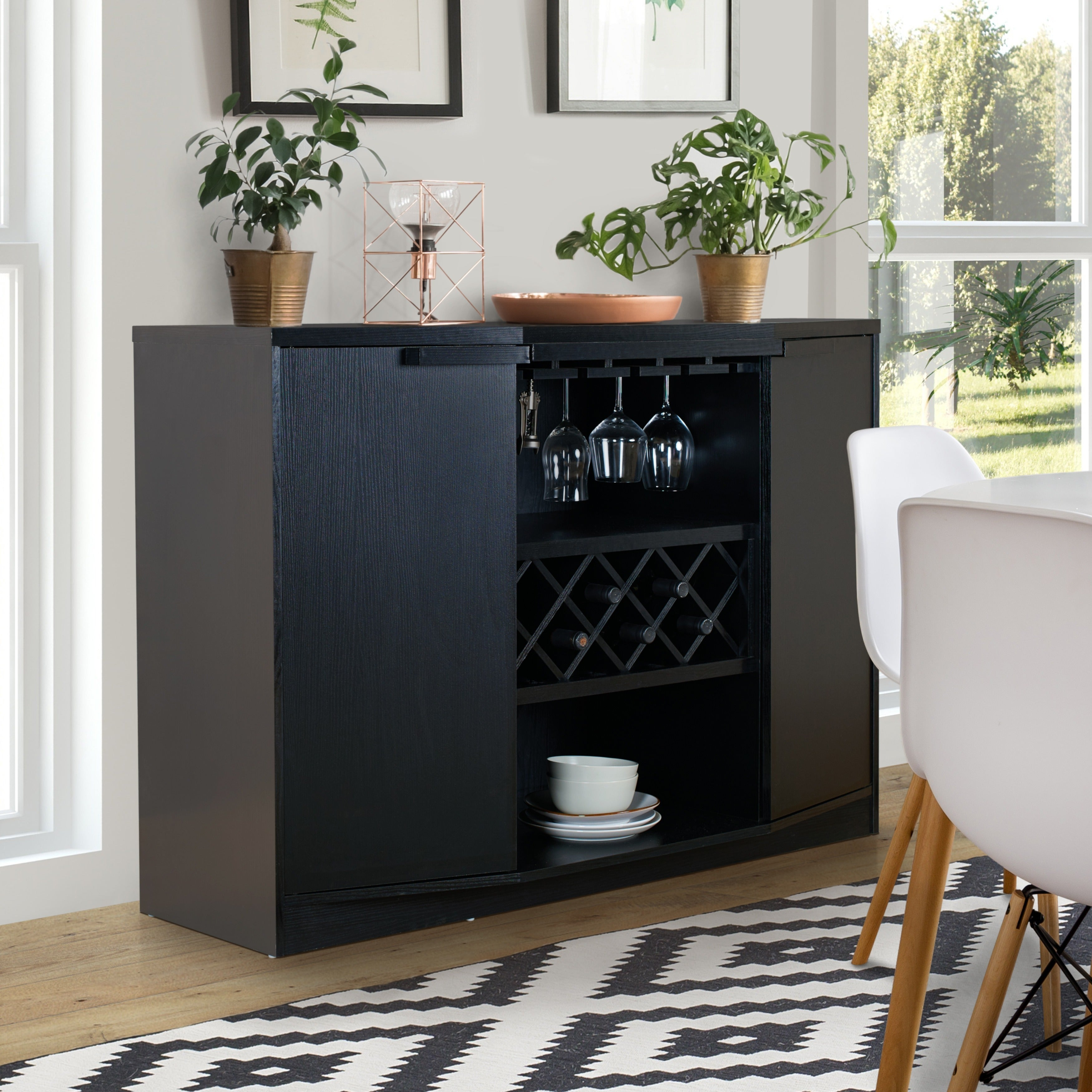 Chapline Contemporary Wine Bar Buffetfoa | Overstock Shopping – The Best Deals On Buffets Throughout Contemporary Espresso 2 Cabinet Dining Buffets (View 7 of 30)