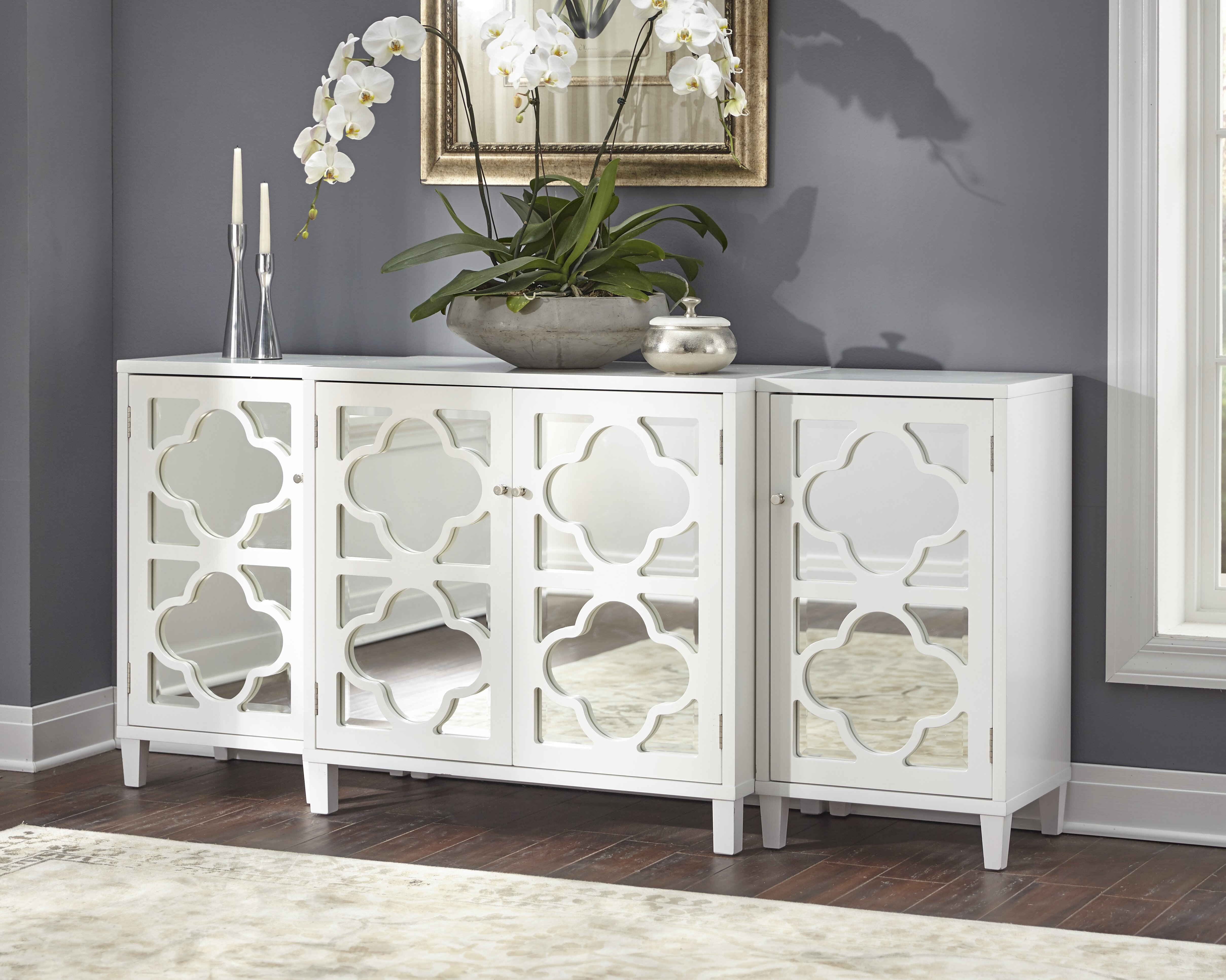 Charlton Home Gordy Mirrored 3 Piece Sideboard Set & Reviews with regard to 3-Piece Mirrored Buffets (Image 7 of 30)