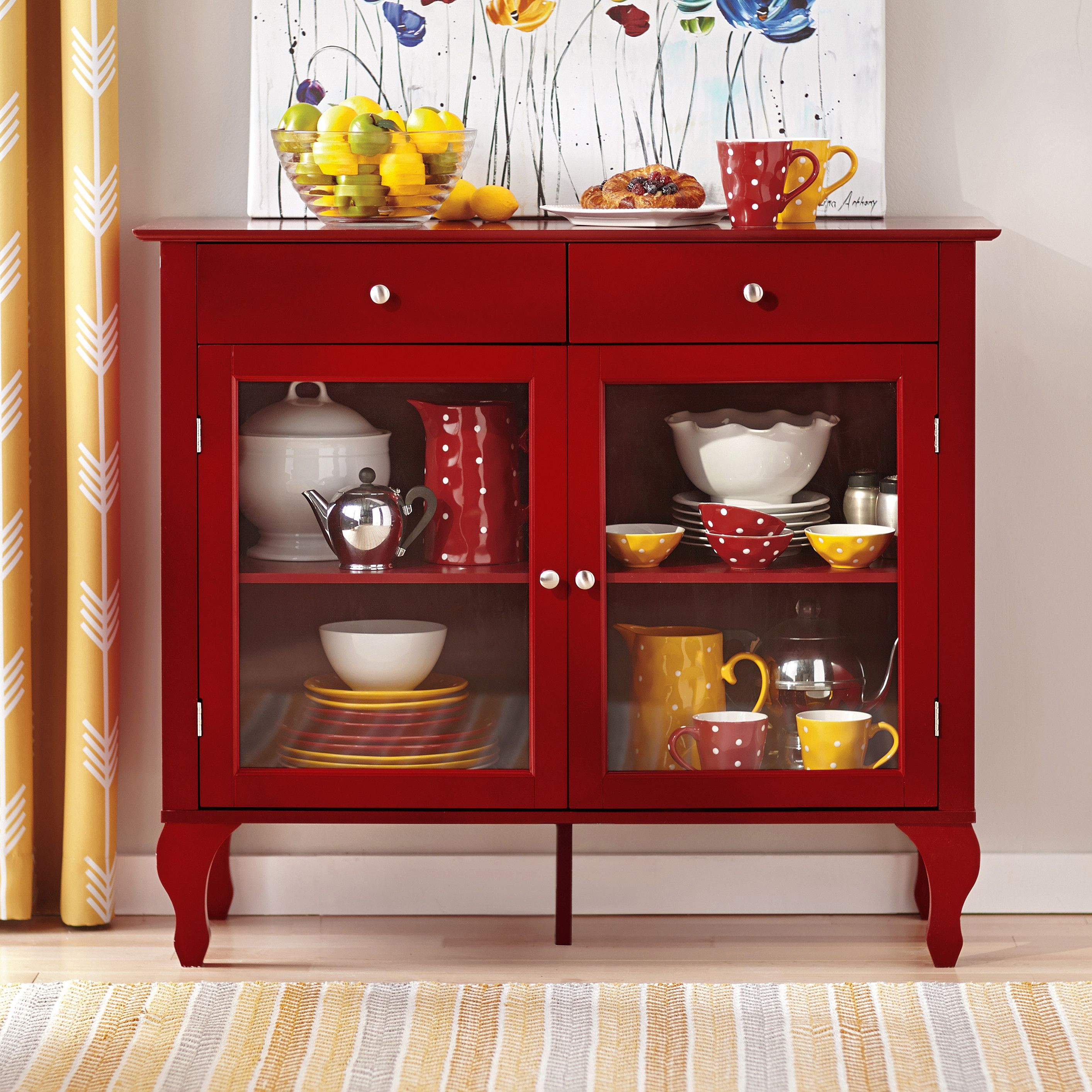Charlton Home® Wade Buffet In Red   China Cabinet Small Regarding Modern Red Buffets (View 5 of 30)